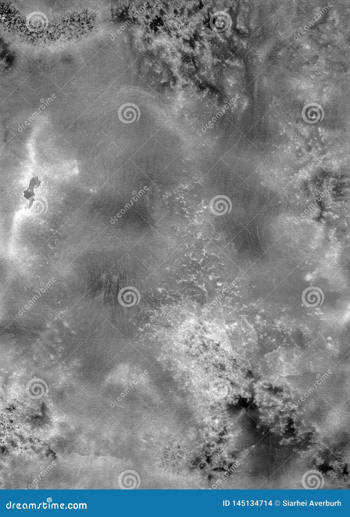 Abstrakt svartvit bakgrund för vattenfärgakryltextur