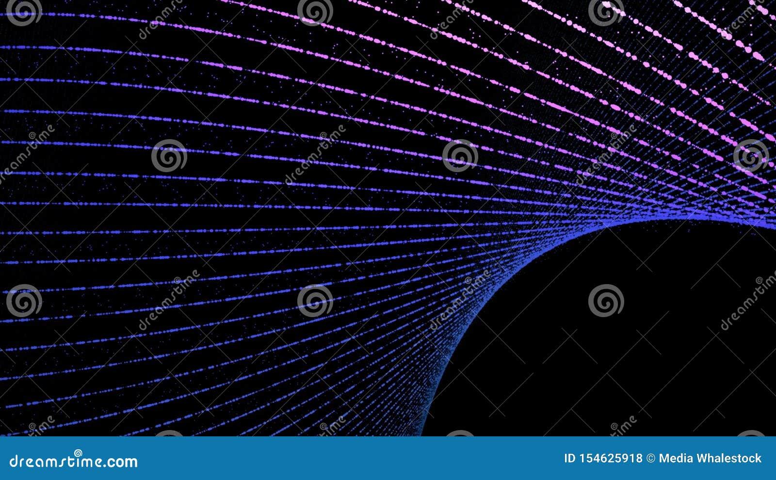 Abstrakt tändande rörande färglinje djur Design för begrepp för överföring för digitala data för teknologinätverk som glöder på