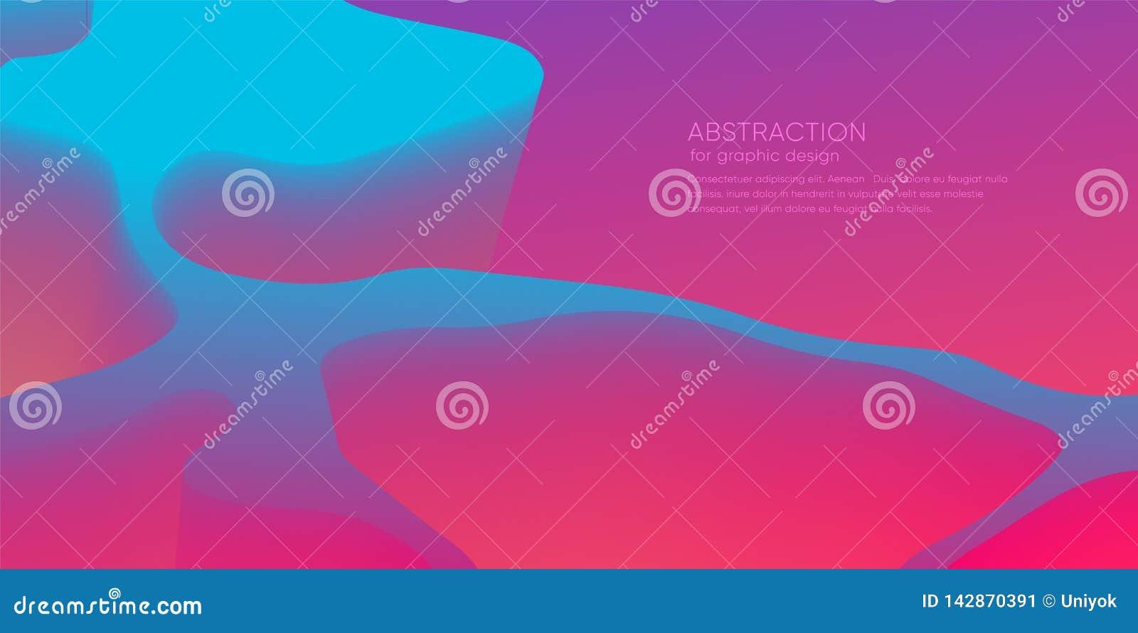 Abstrakt tapet med dynamisk form 3d Bakgrund med rörelseformer Futuristisk moderiktig bakgrund modern orientering