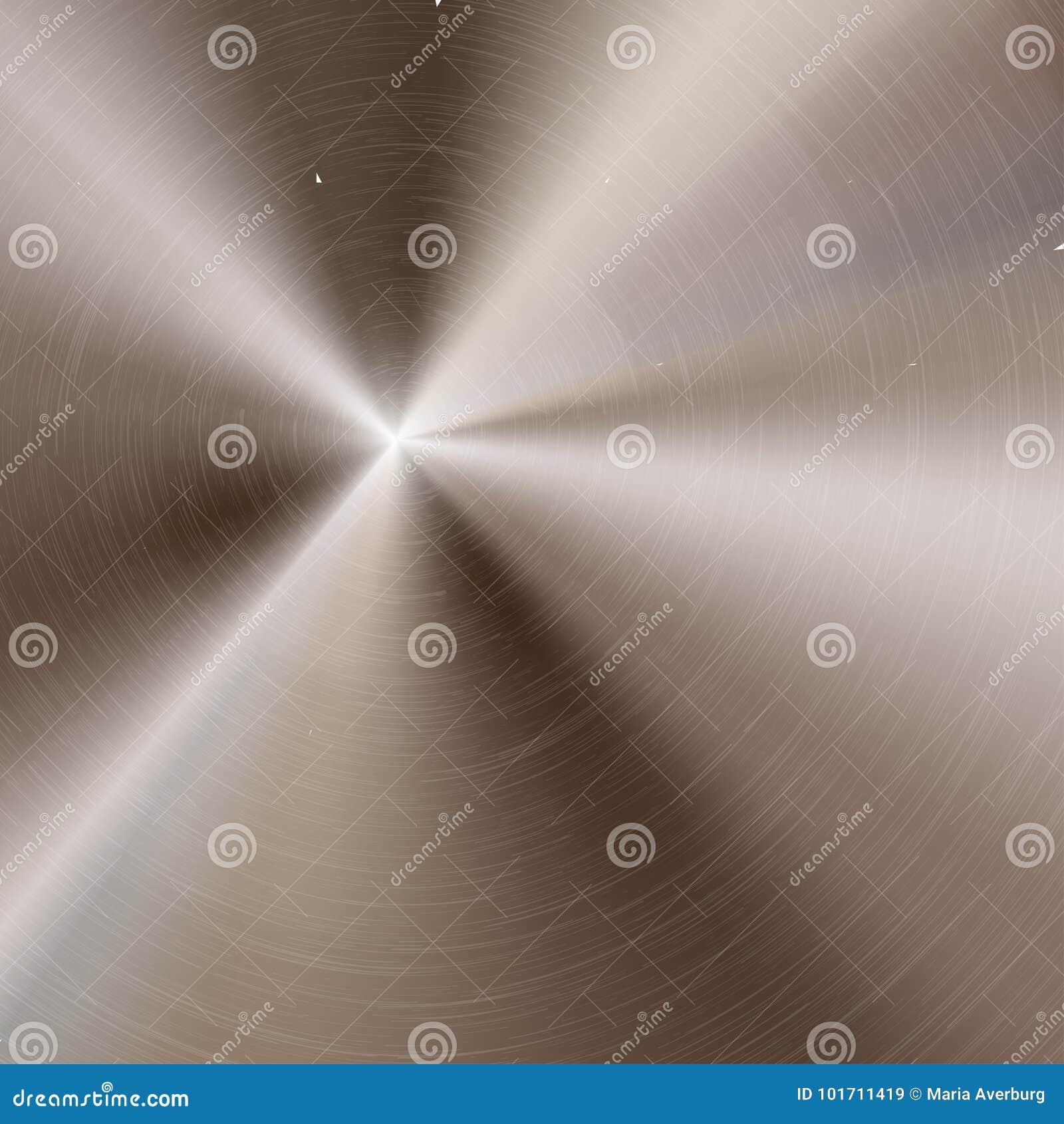 Abstrakt teknologibakgrund med polerad borstad rund metalltextur, krom, silver, stål, aluminium för design