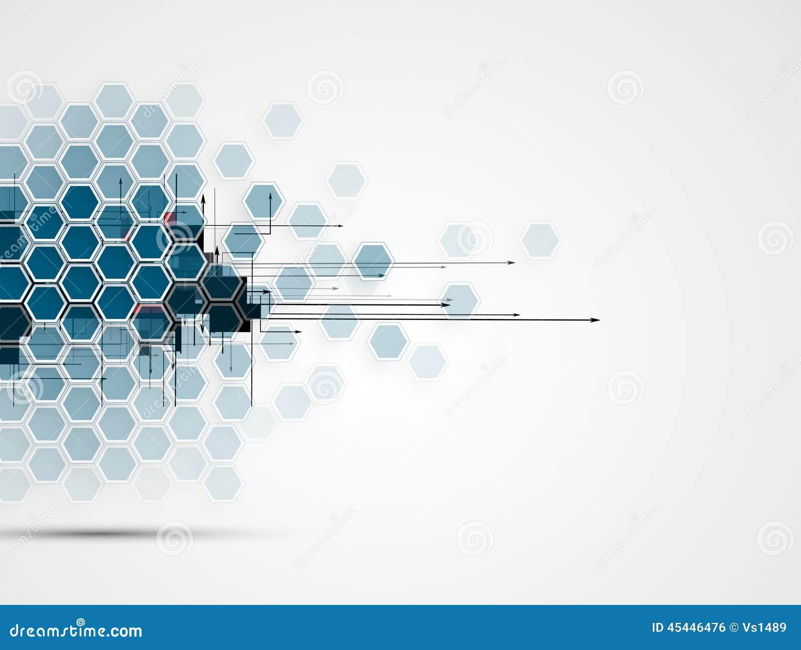 Abstrakt teknologibakgrundsaffär & utveckling