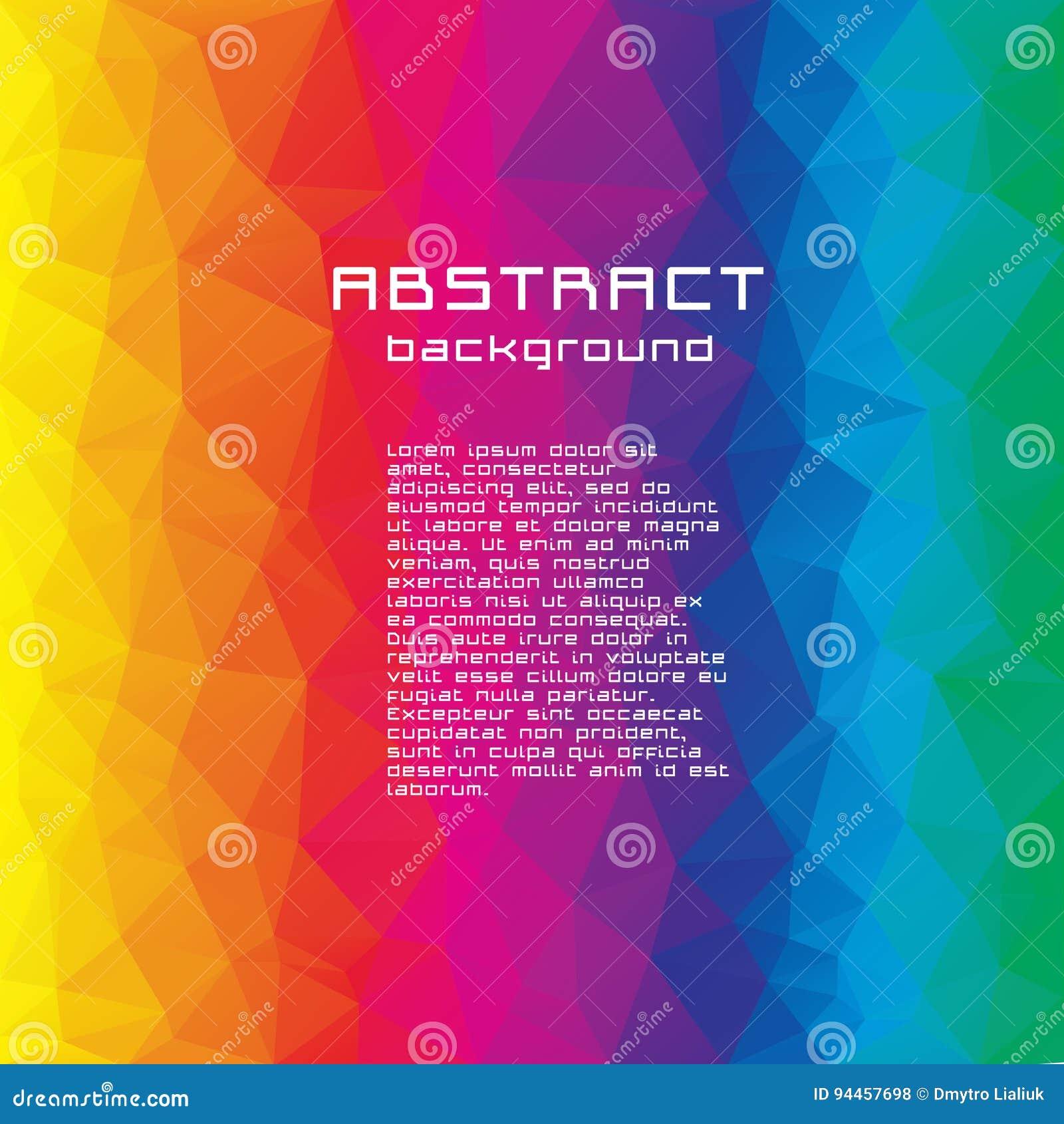 Abstrakt textured poligonalny rozmyty trójboka tło