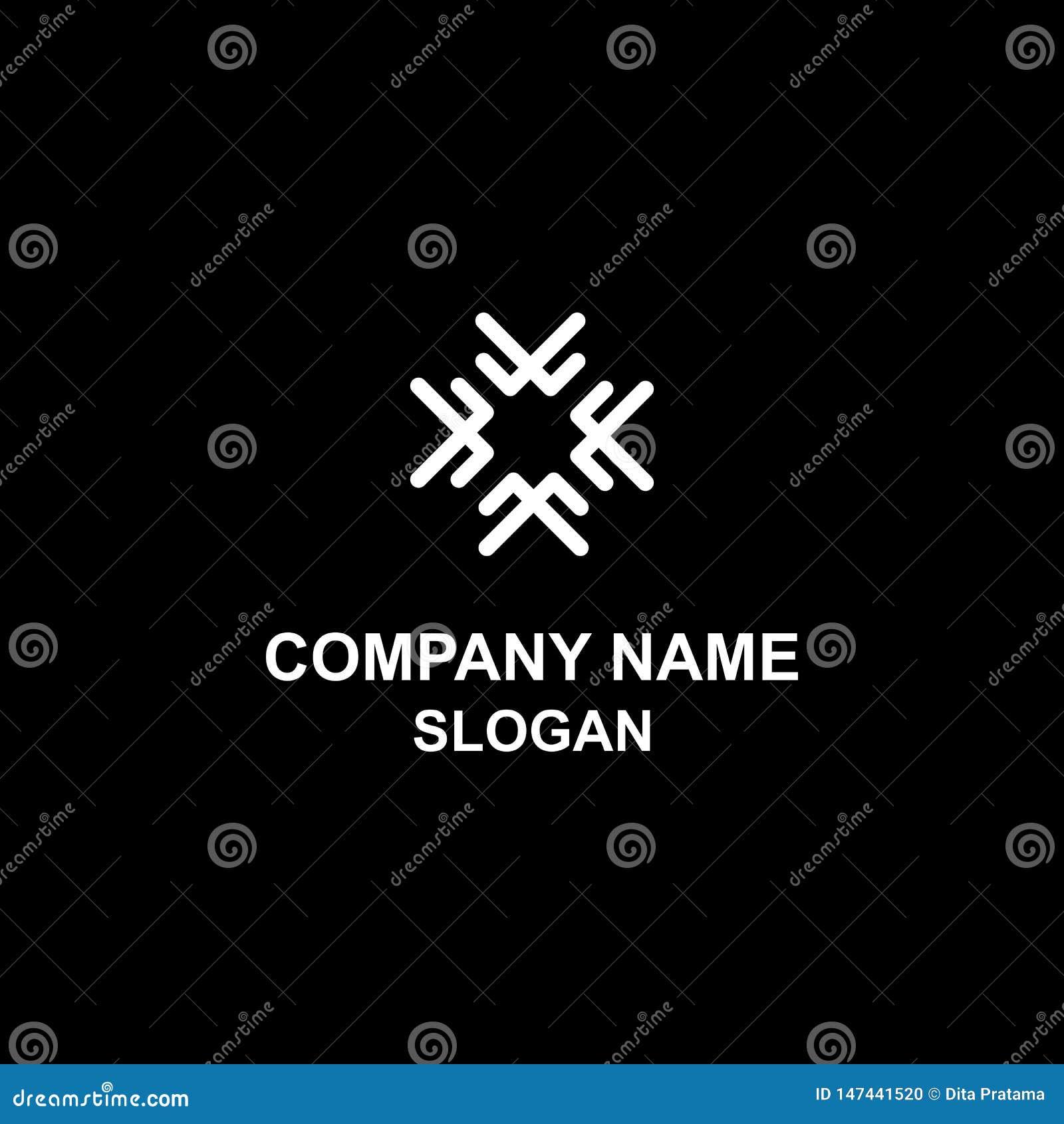 Abstrakt unik symmetrisk logo
