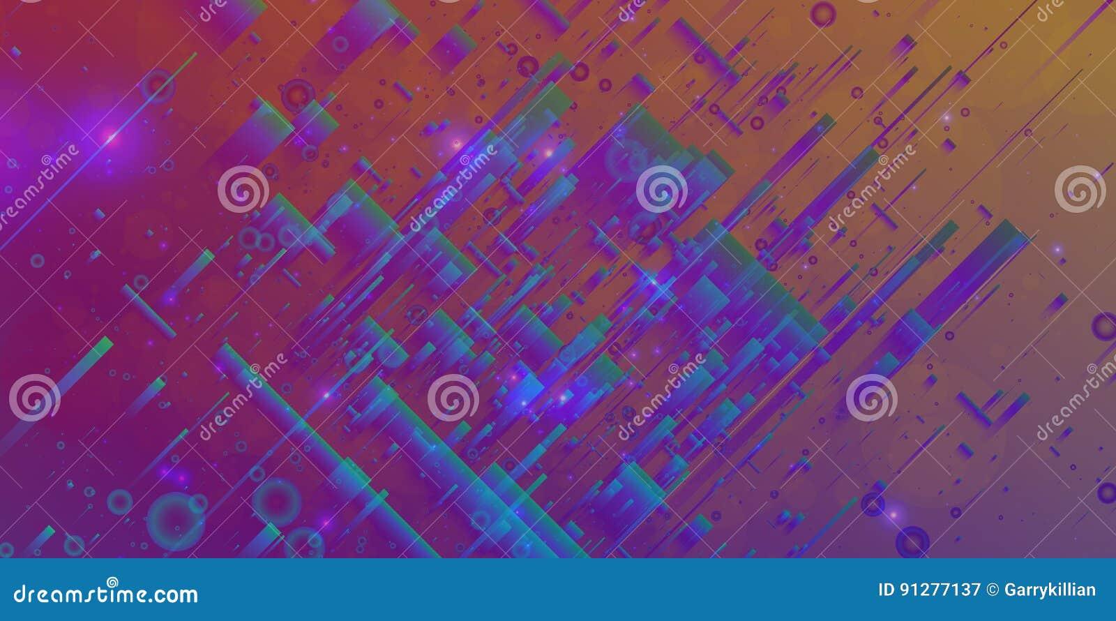 Abstrakt vektoringreppsbakgrund Slumpmässiga polygoner och signalljus Futuristisk teknologistil