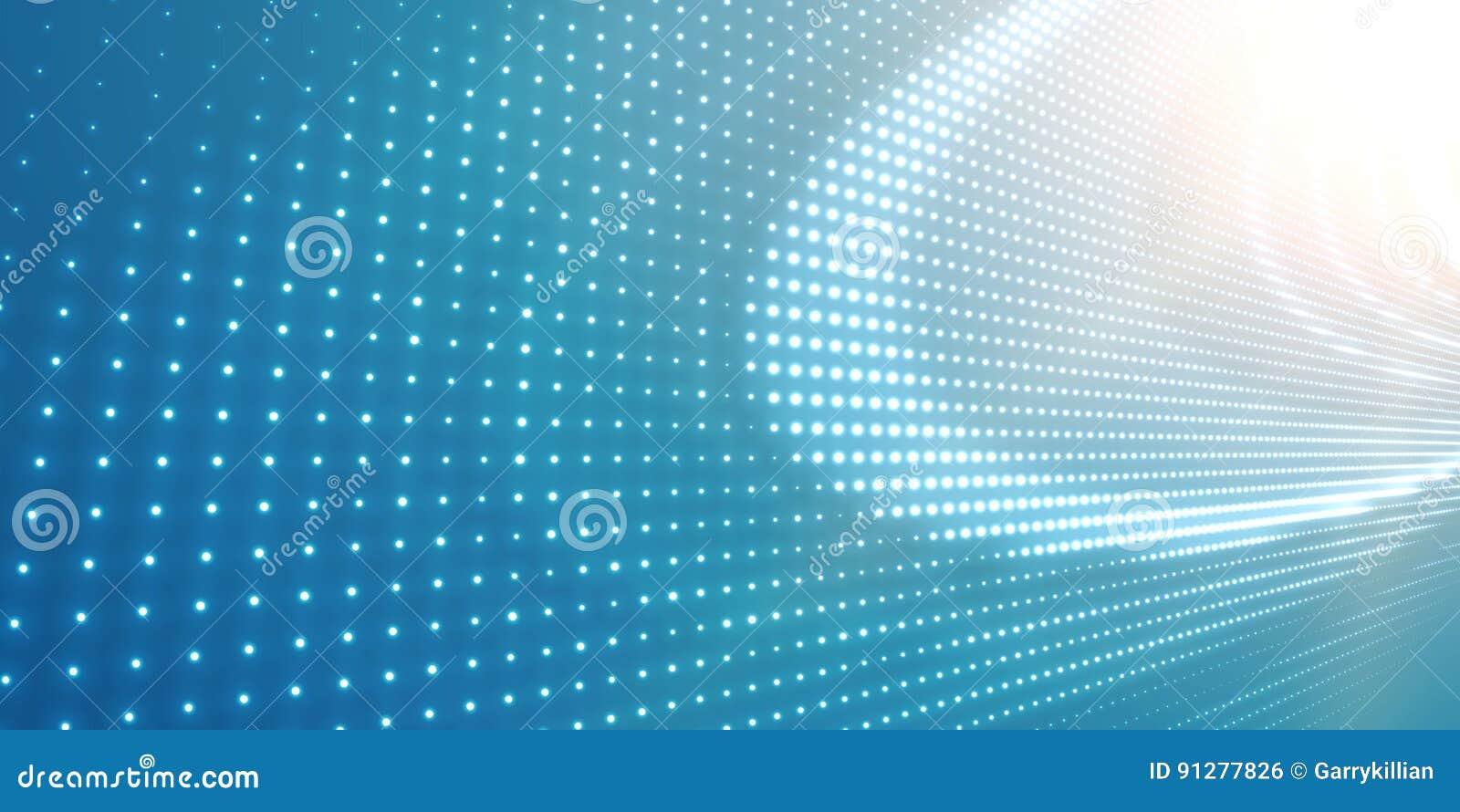Abstrakt vektorljus - blå bakgrund med glänsande neonljus Neontecken med abstrakt bild i perspektiv
