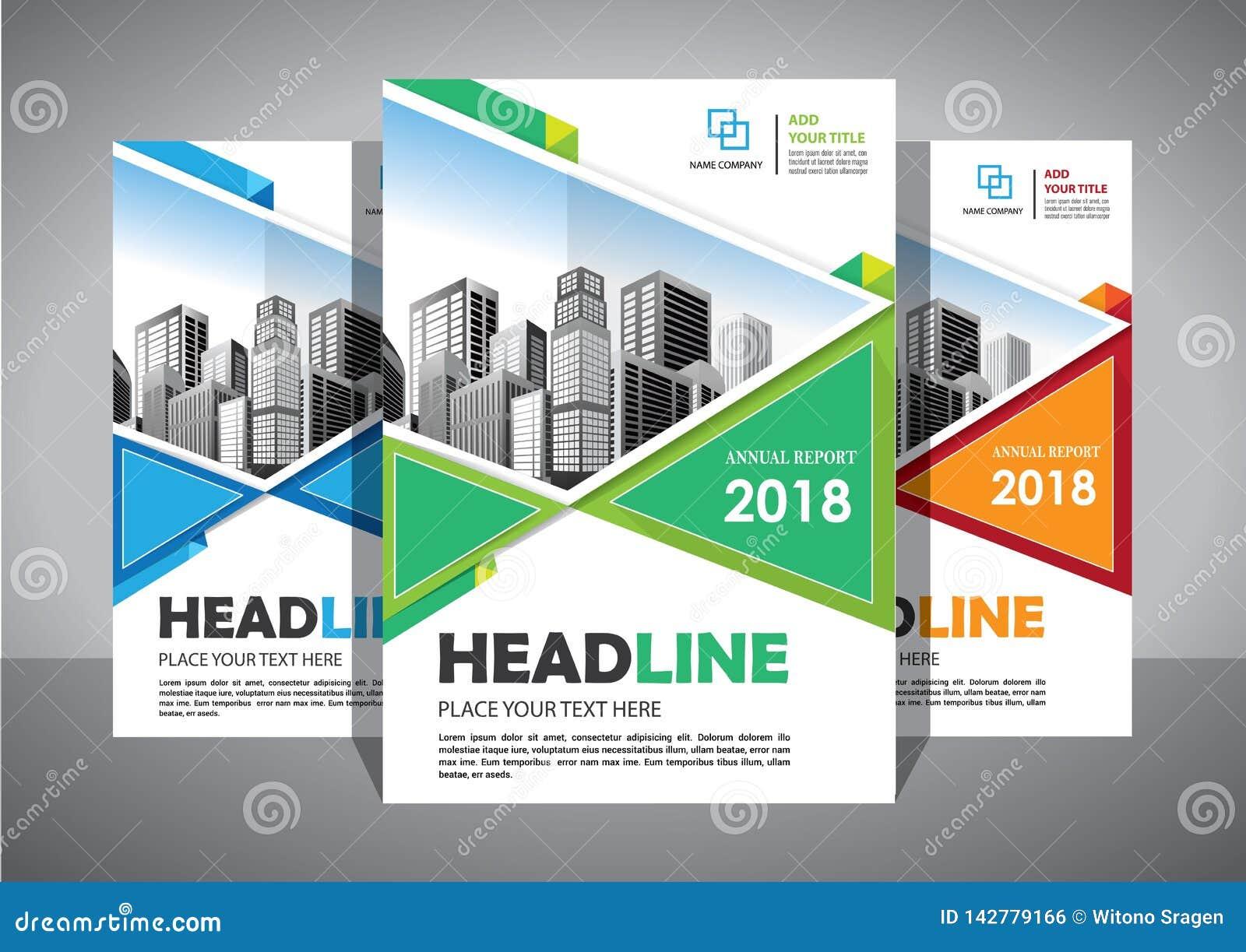 Abstrakt vektormall för affär Broschyrdesign, modern orientering för räkning, årsrapport, affisch, reklamblad i A4 med den färgri