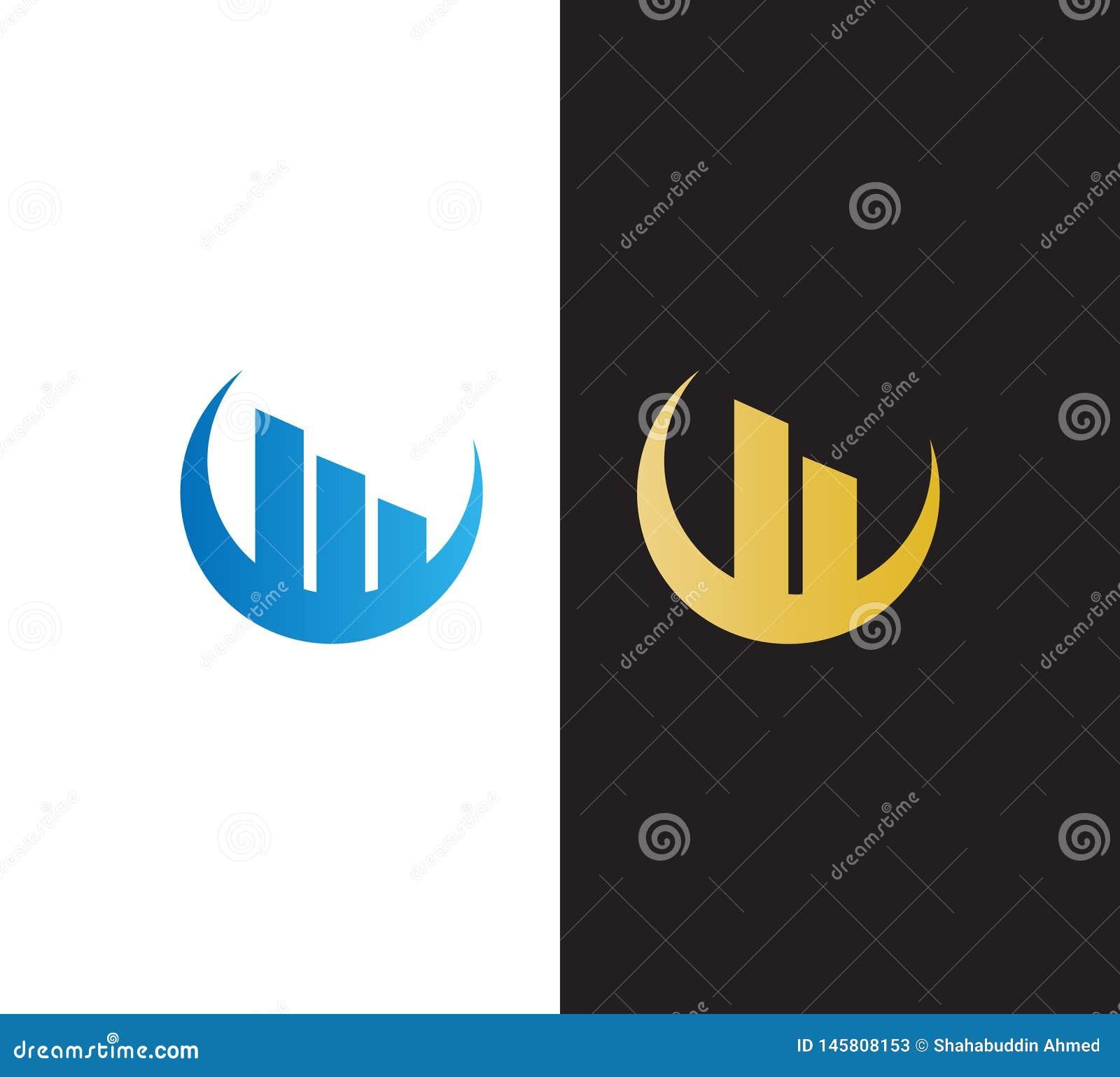 Abstrakt vektorReal Estate logo Byggande som är plant, konstruktionslogodesign för ditt företag