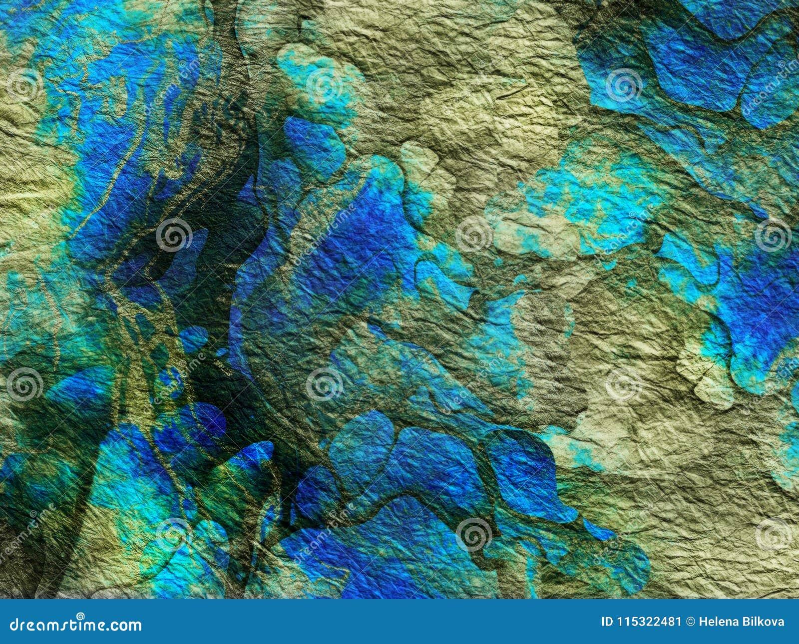 Abstrakt vibrerande gräsplanblåtttextur, bakgrund