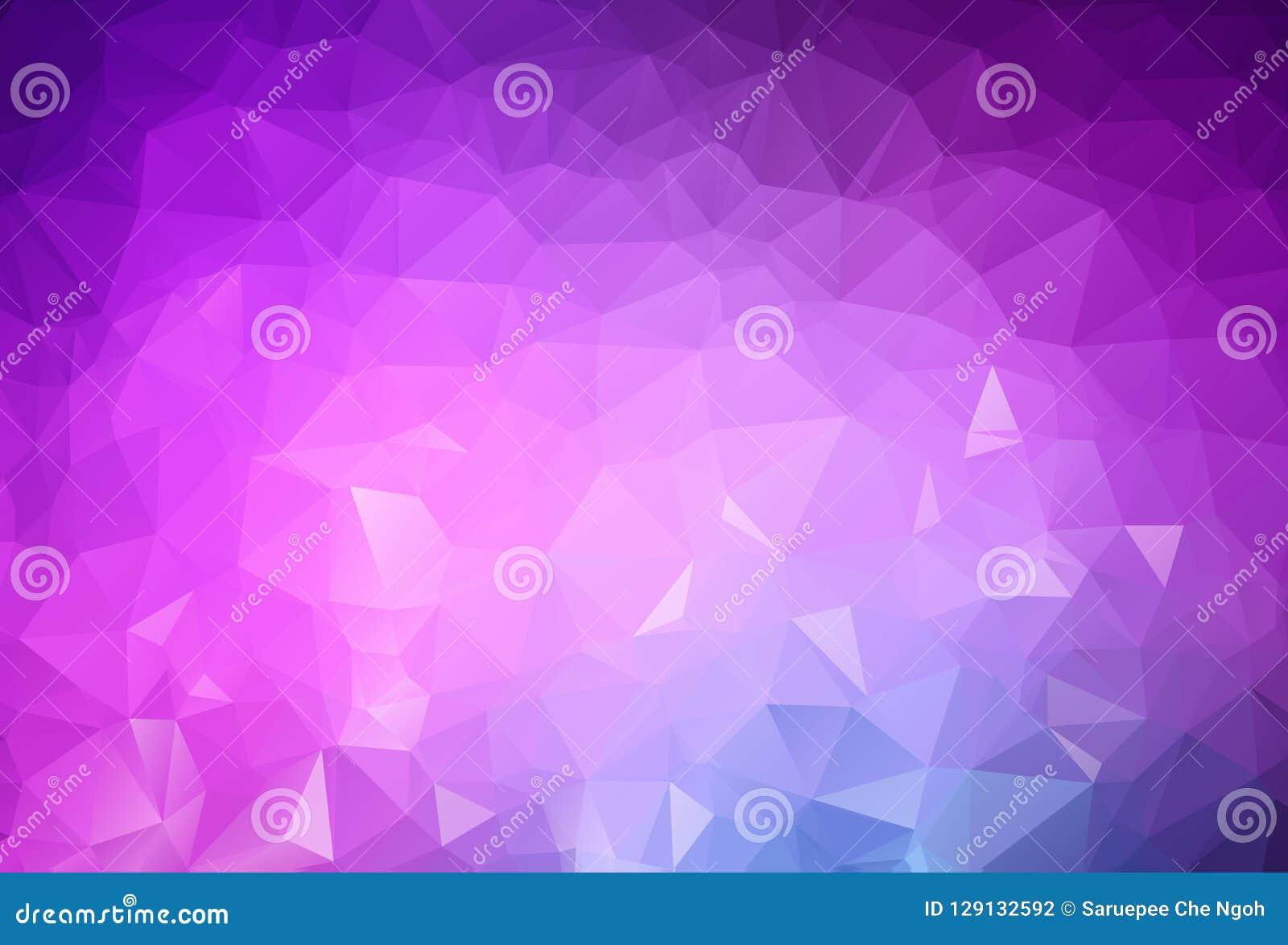 Abstrakta światło - purpurowy wektorowy abstrakt textured poligonalnego tło Rozmyty trójboka projekt Wzór może używać dla tła