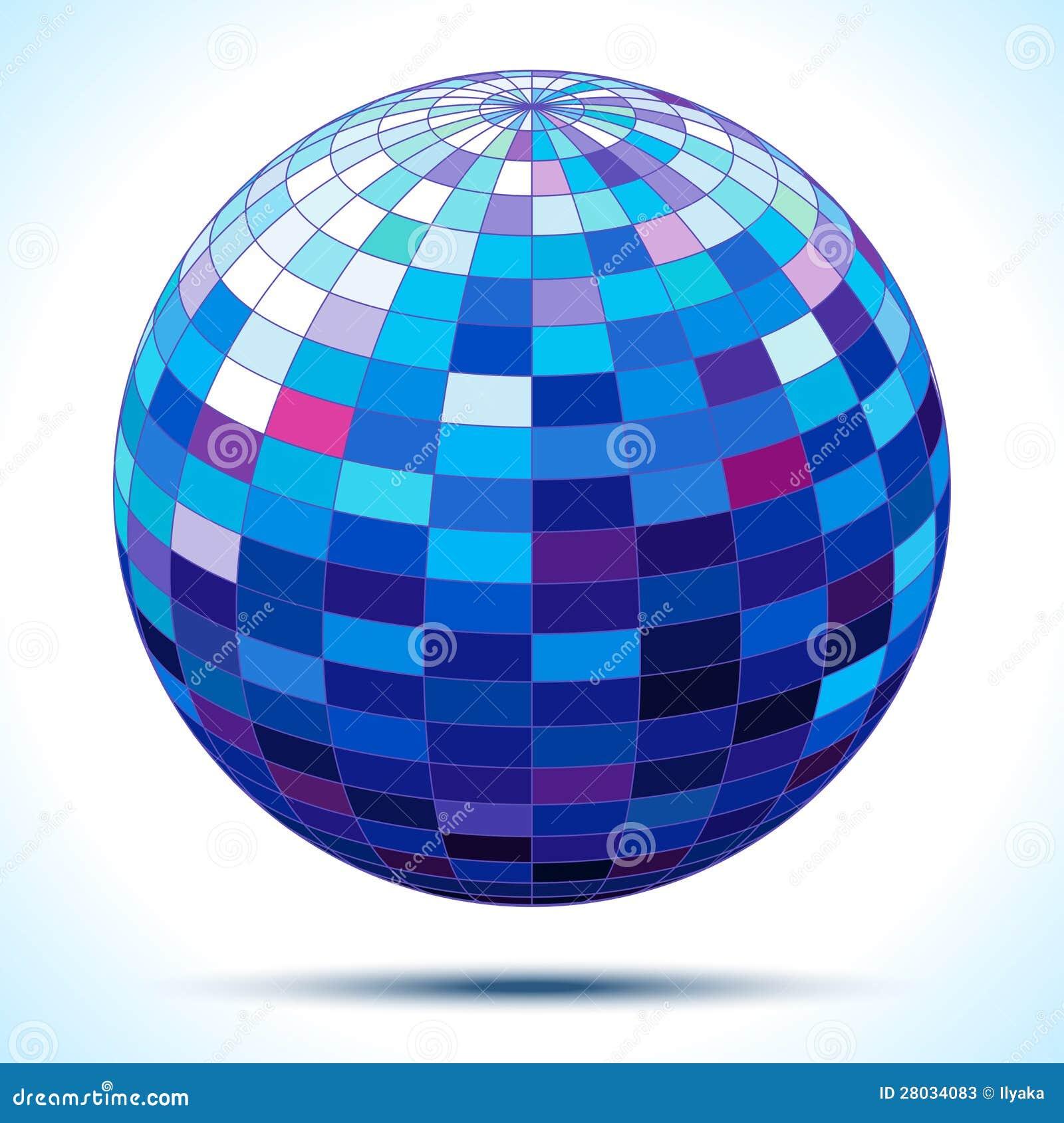 Abstrakta 3d błękita sfera