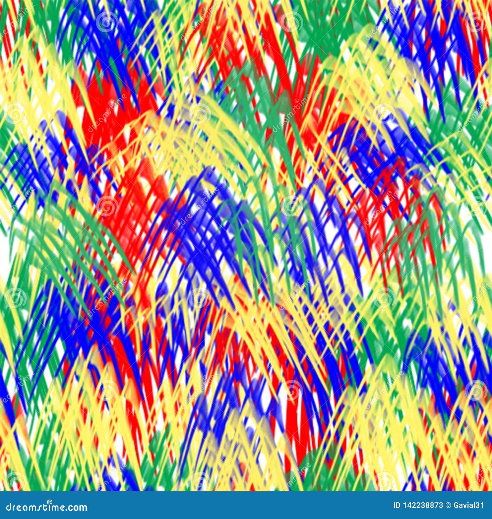 Abstrakta bezszwowy wzoru Stubarwni muśnięć uderzenia na białym tle