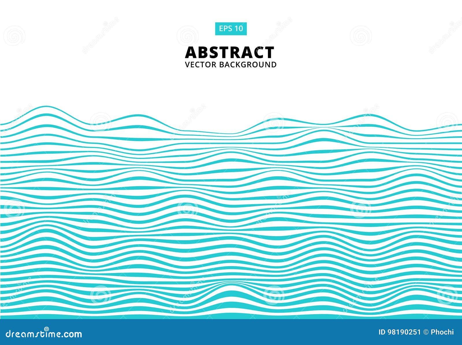 Abstrakta blålinjen vinkar, den krabba bandmodellen, grov yttersida, V