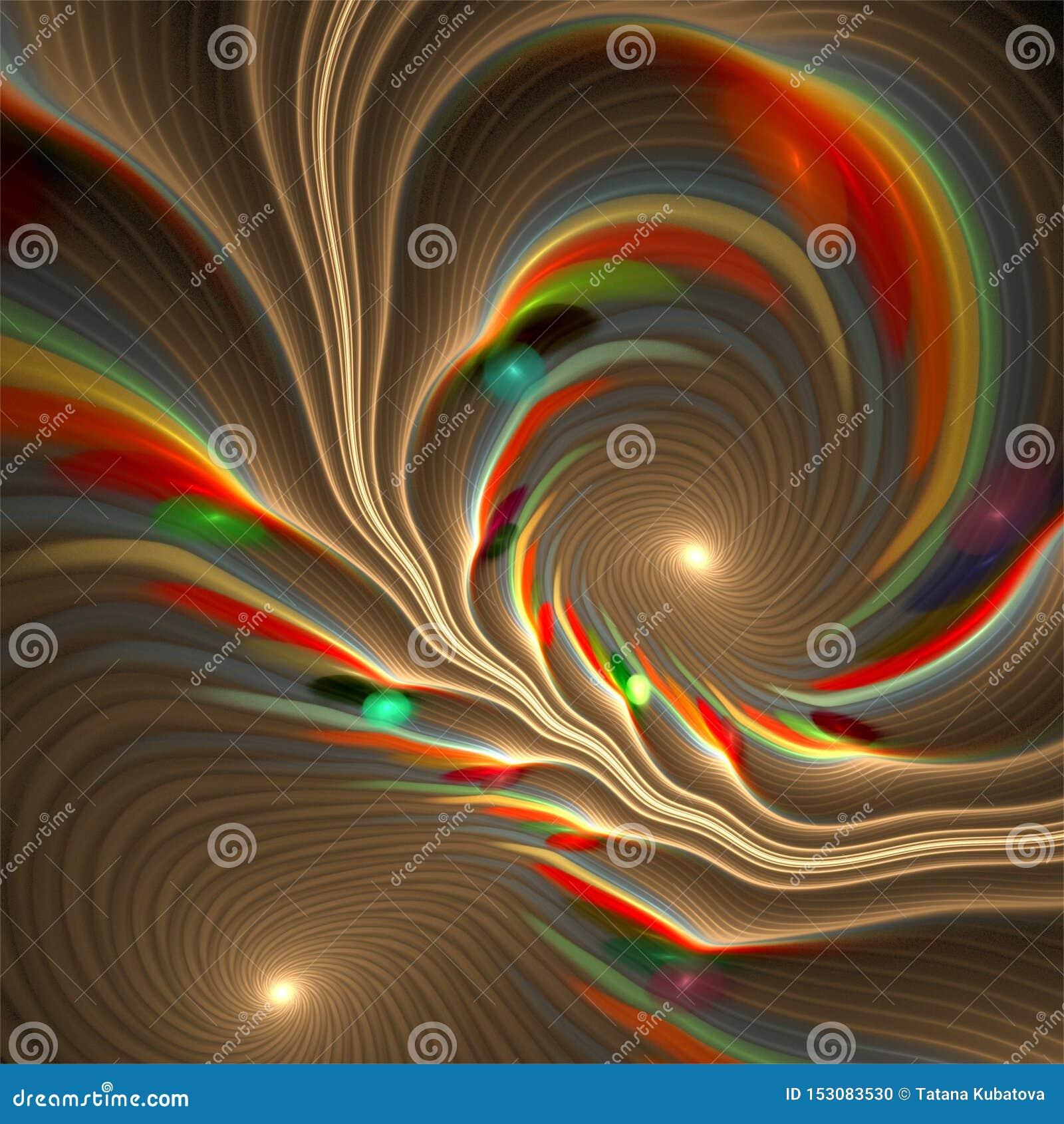 Abstrakta bubblor för fractalkonstspiral virvlar i pastellfärgade färger