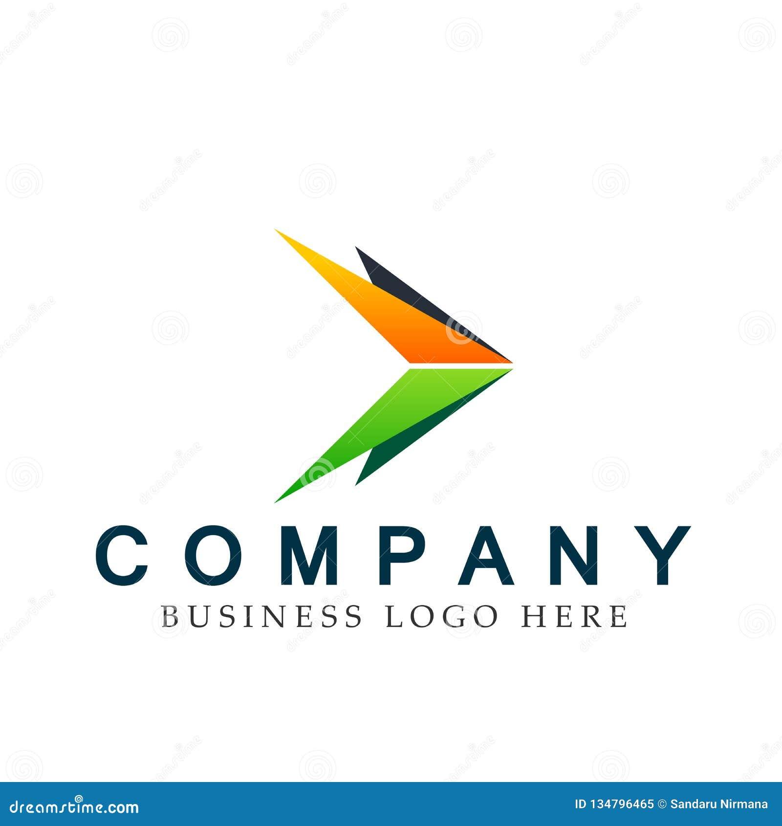Abstrakta dwa strzałkowaci kierunki skupiali się loga, na Korporacyjnym Inwestują Biznesowego loga projekt Pieniężna inwestycja n