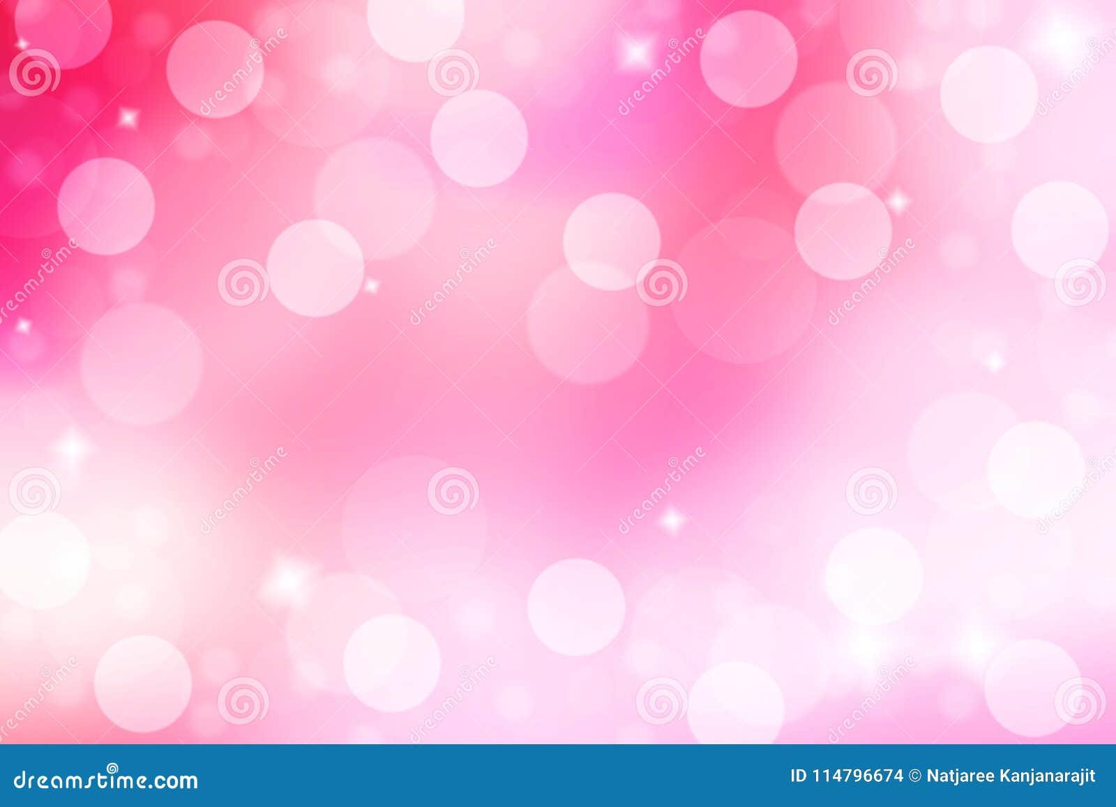Abstrakta i plamy różowy tło Różowy tło z bokeh