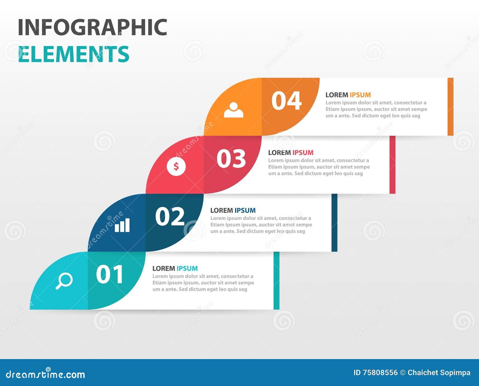 Abstrakta Infographics för etikettaffärstimeline beståndsdelar, illustration för vektor för design för presentationsmalllägenhet