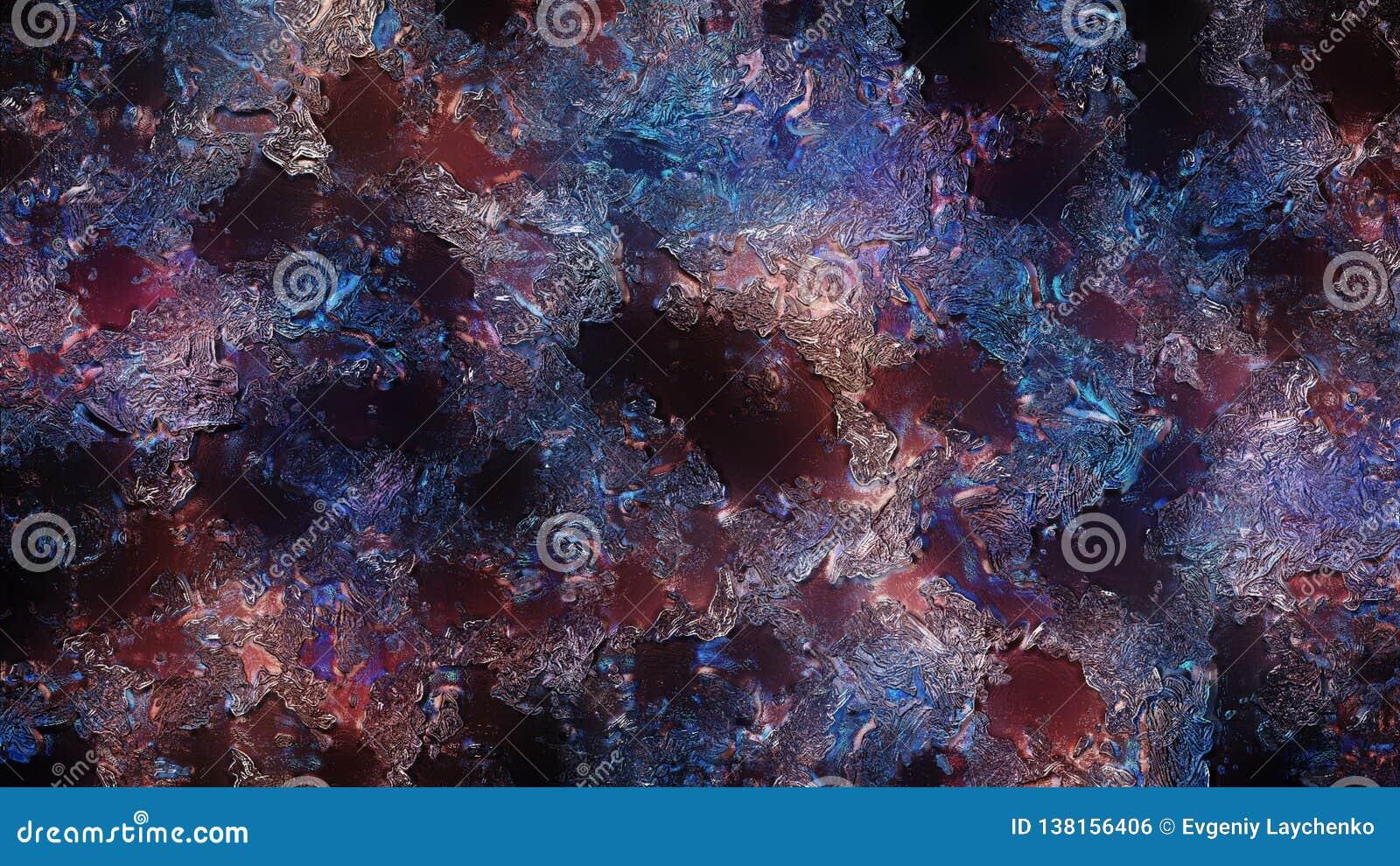 Abstrakta målningar av präglad garnering för olika färger illustration 3d