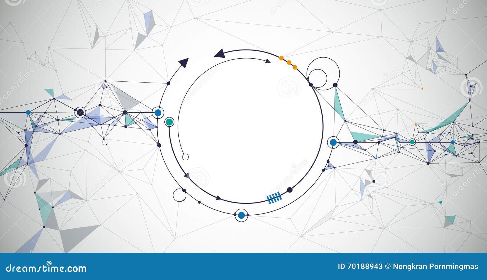 Abstrakta molekylar med tomt utrymme för ditt innehåll