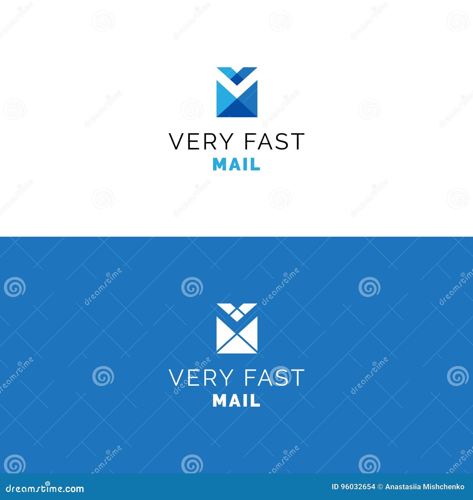 Abstrakta V listowy kopertowy logo