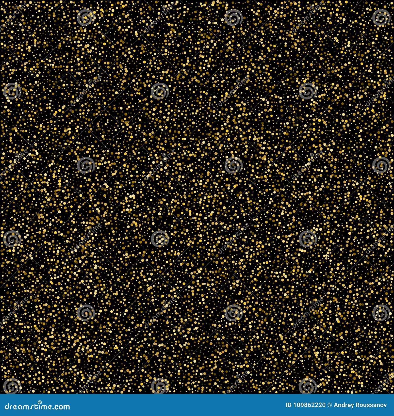 Abstrakta wzór przypadkowe spada złoto kropki na czarnym tle