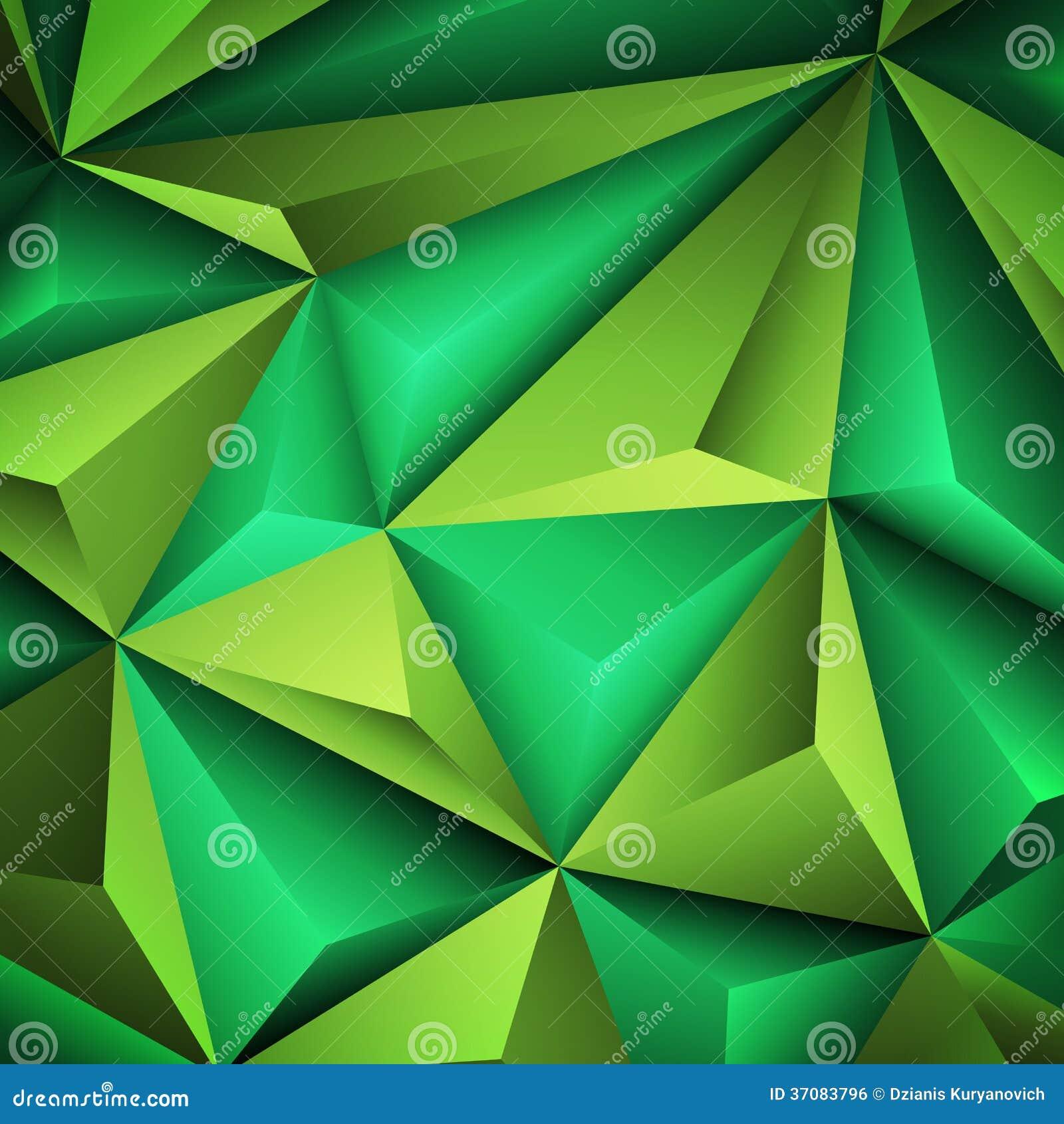 Download Abstrakta zielony tło ilustracja wektor. Ilustracja złożonej z geometryczny - 37083796