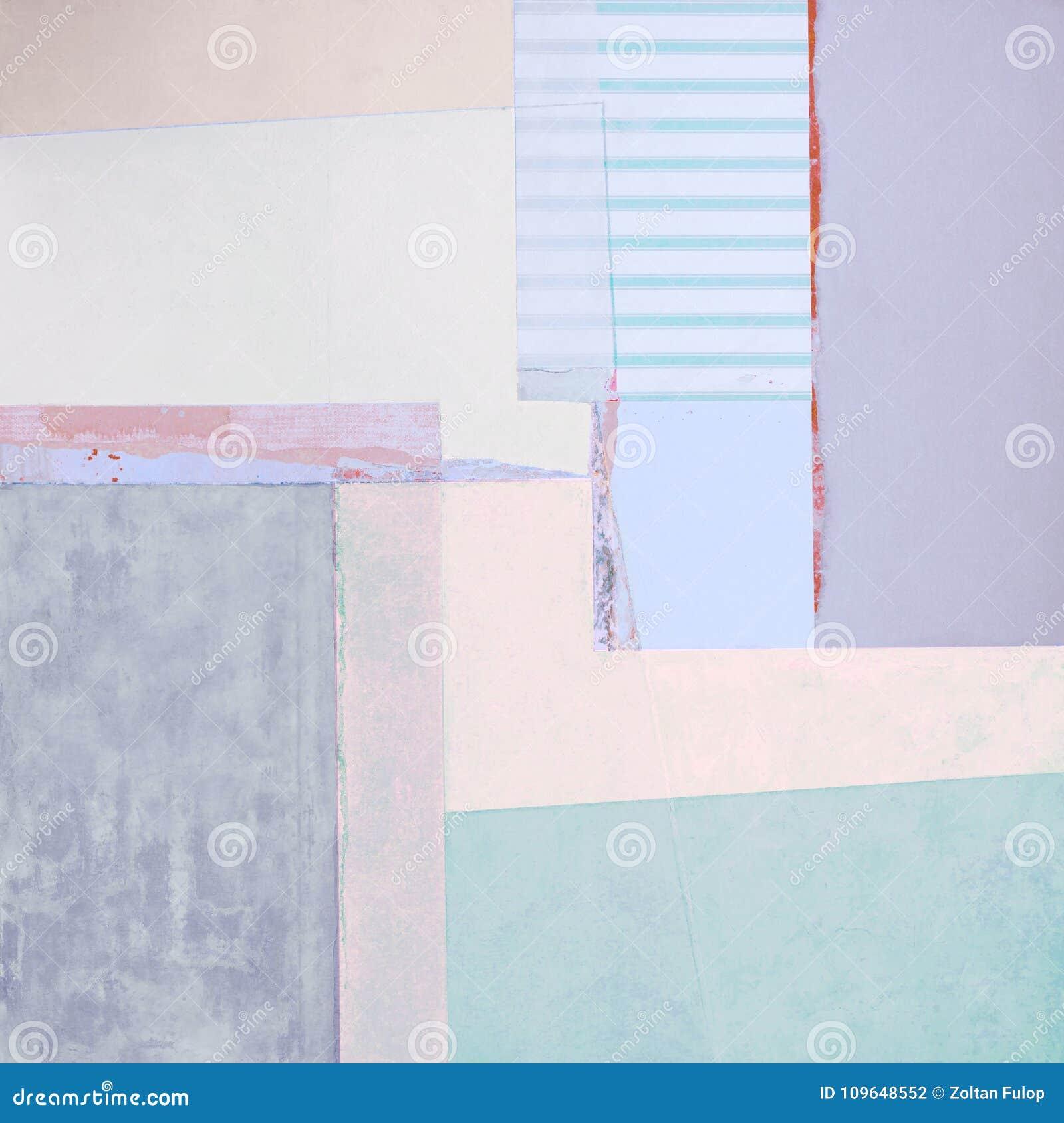 Abstrakte Acrylmalerei mit Streifen