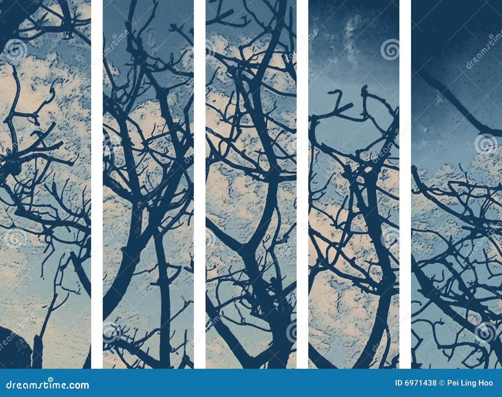 Abstrakte Baum-Tapete
