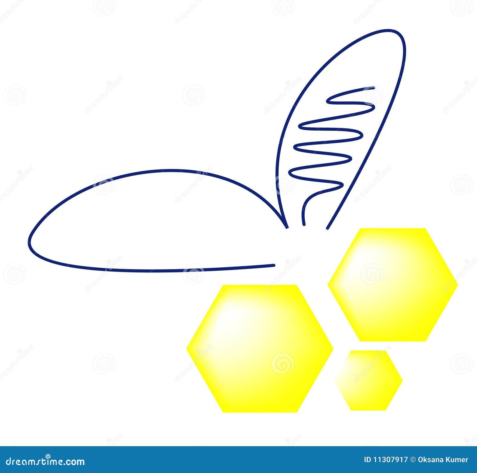 Abstrakte Biene