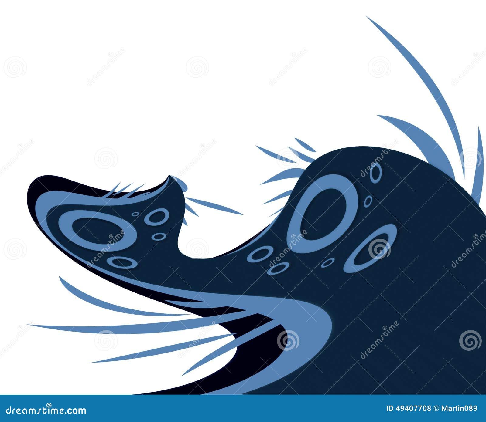 Download Abstrakte blaue Ecke stockfoto. Bild von dekor, zeichnung - 49407708