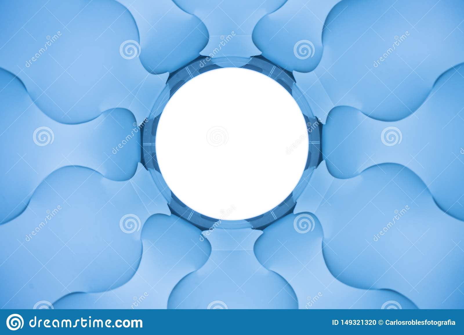 Abstrakte blaue elices