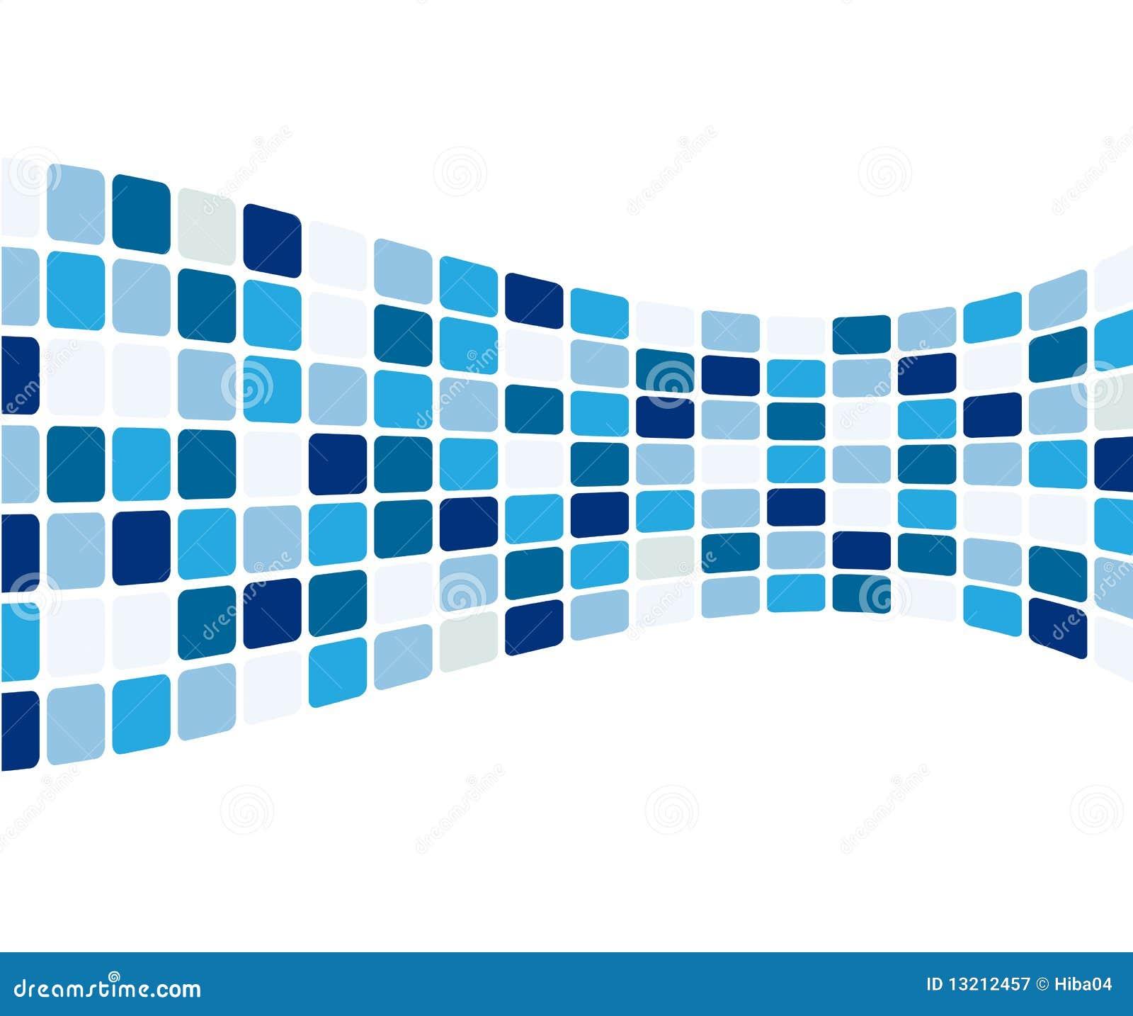 Blaue Fliesen: Abstrakte Blaue Fliesen Vektor Abbildung. Illustration Von