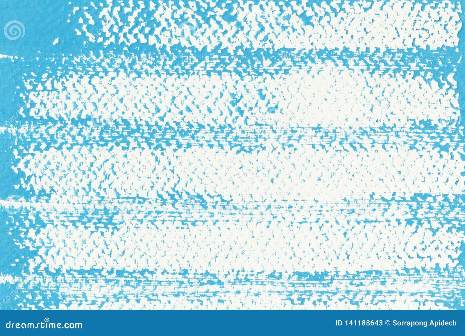 Abstrakte blaue Plakatfarbe auf Weißbuch für Hintergrund, die Oberfläche des blauen Aquarells auf weißem Hintergrund