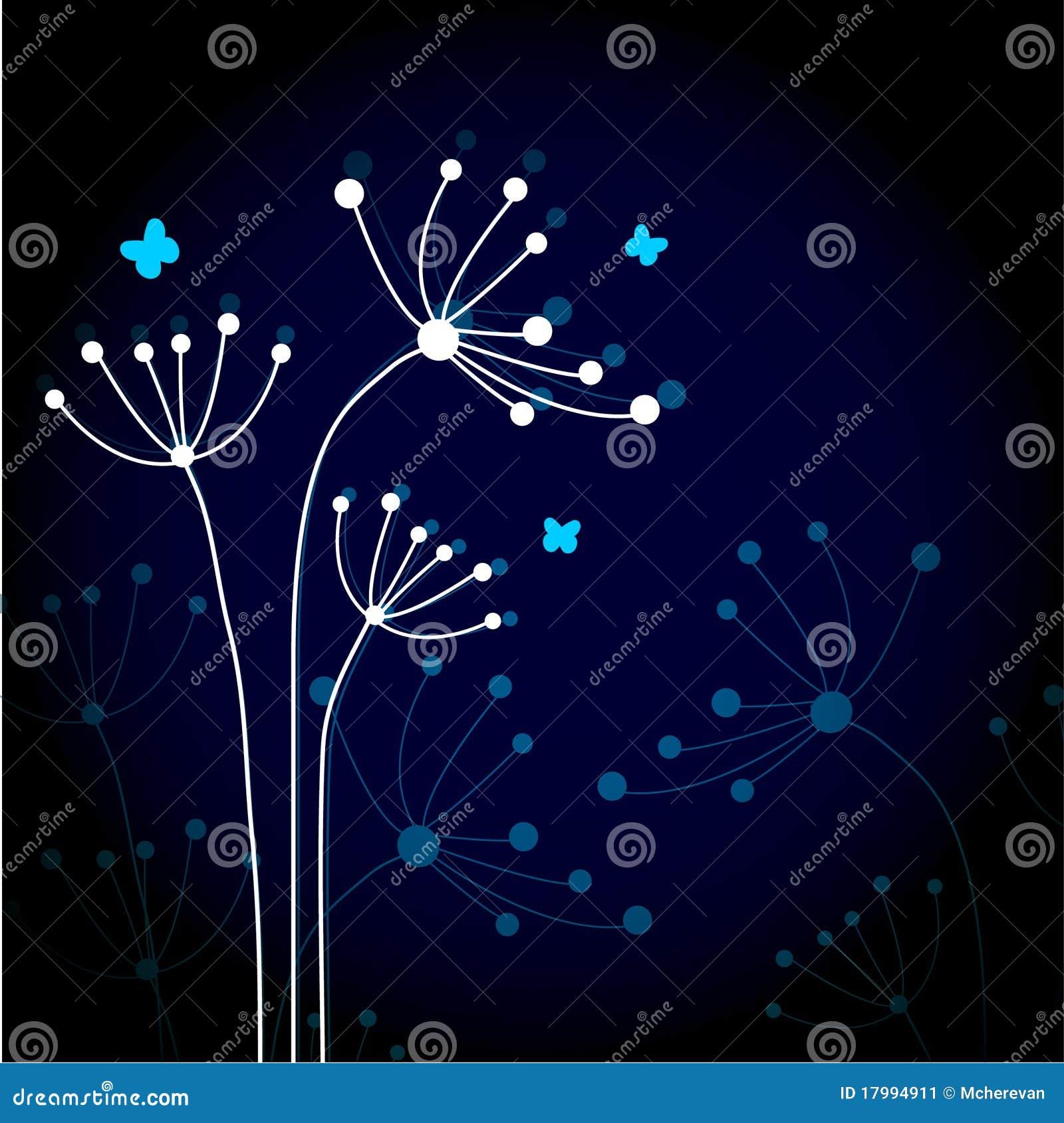 Abstrakte Blumen.