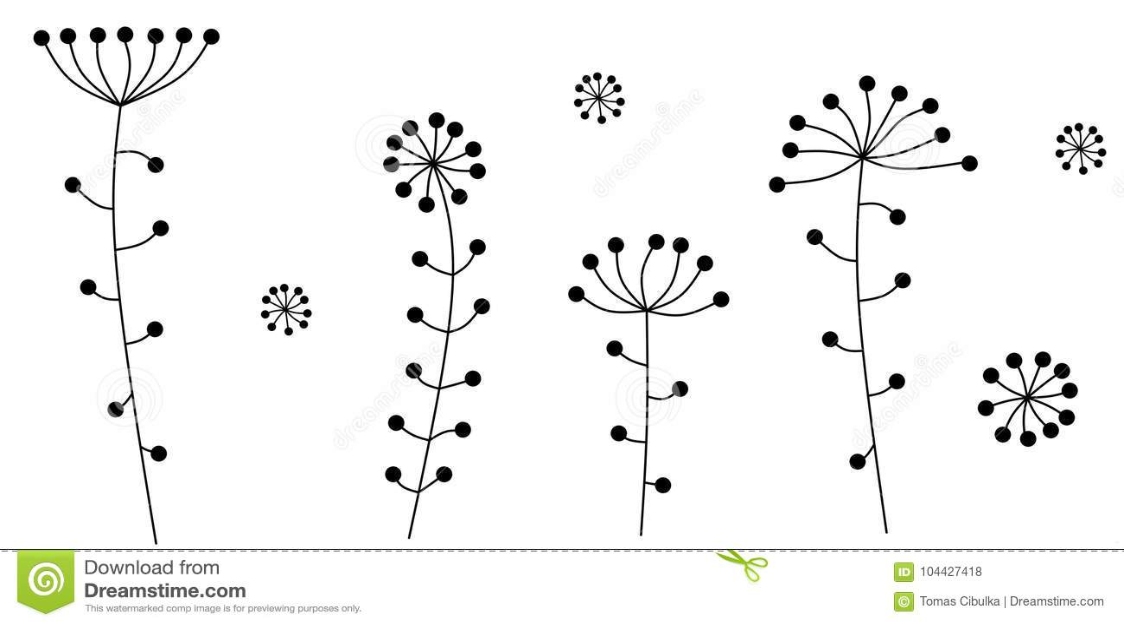 Abstrakte Blumen Auch im corel abgehobenen Betrag