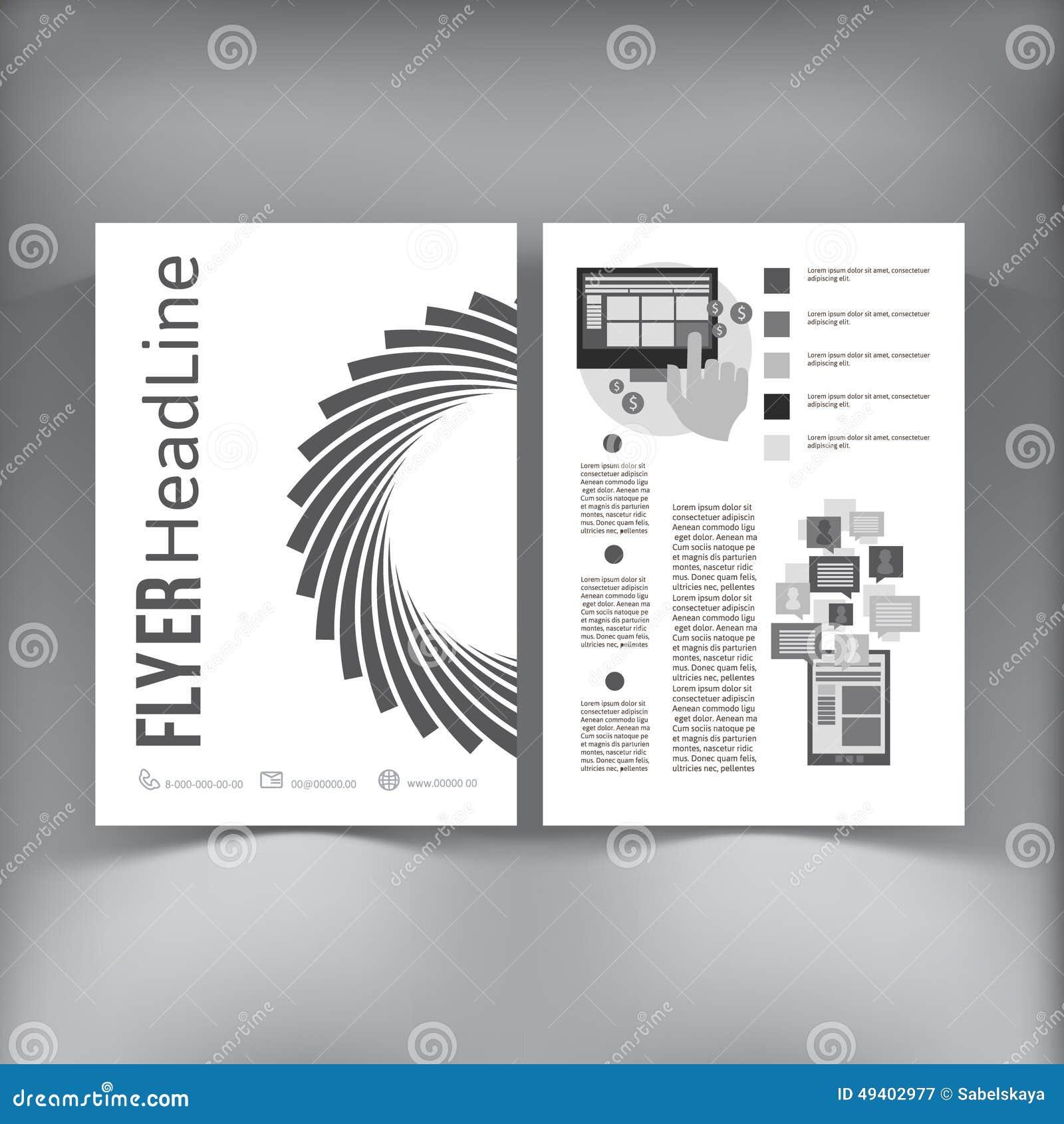 Download Abstrakte Broschüren-Fliegerdesign-Vektorschablone Vektor Abbildung - Illustration von katalog, korporativ: 49402977