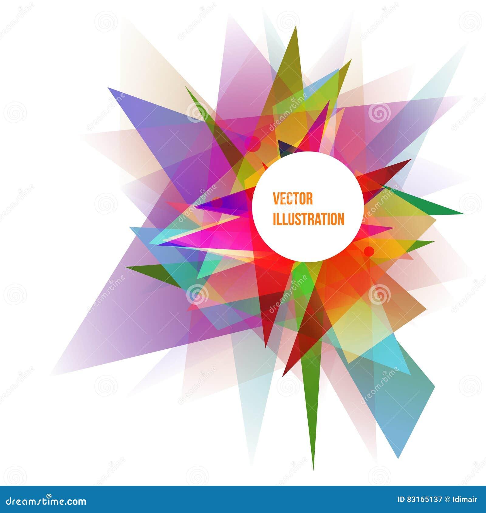 Abstrakte bunte geometrische Hintergrund-Vektor-Illustration