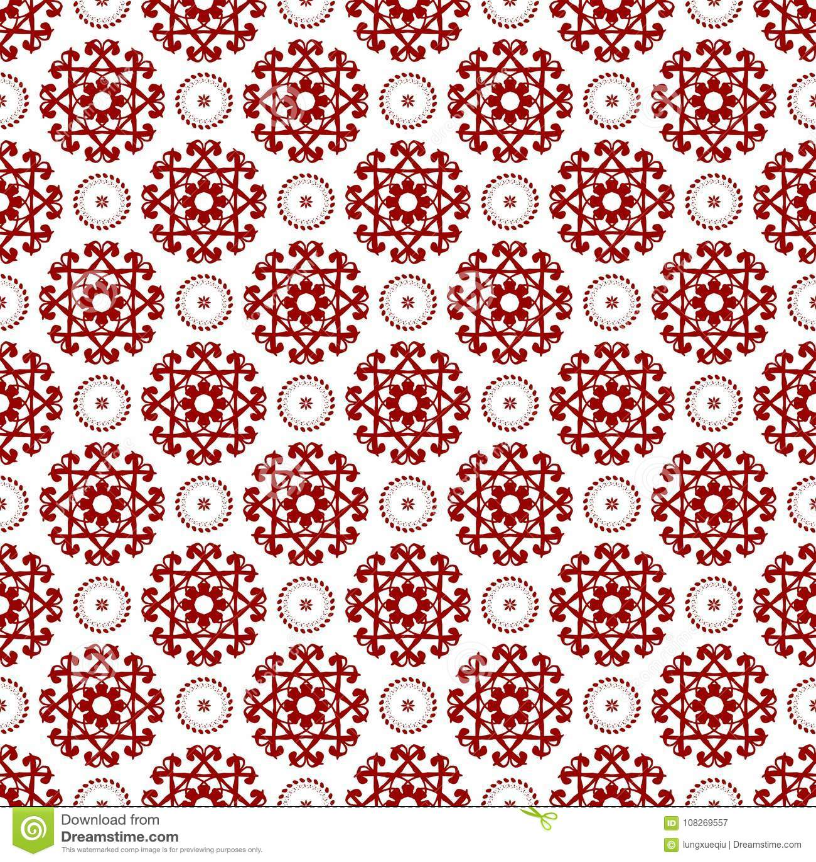 Abstrakte dekorative orientalische nahtlose königliche mit Blumenweinlese-arabische chinesische transparente rote Muster-Beschaff