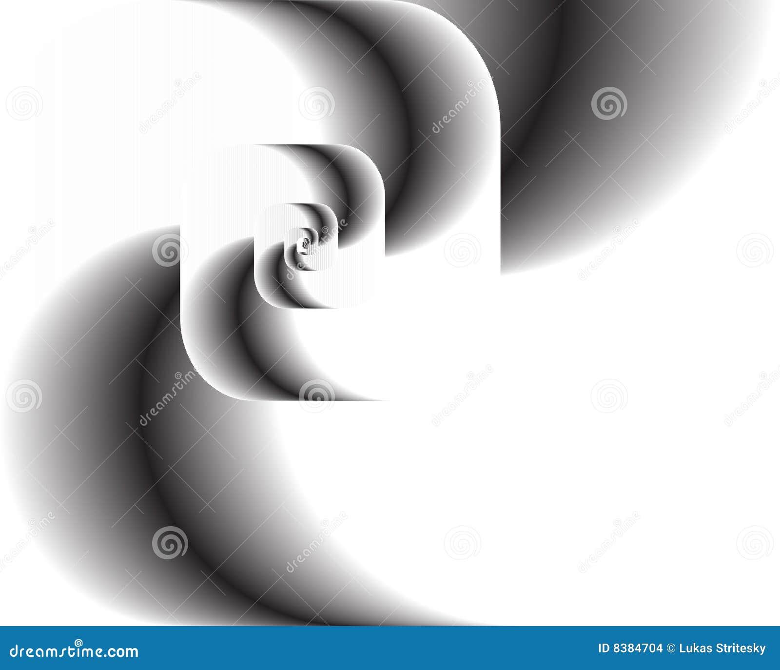 Abstrakte Fractalrotation als Zeichen, Hintergrund