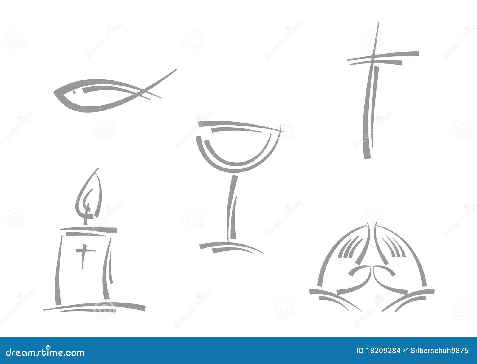 abstrakte fromme symbole stock abbildung illustration von kerze 18209284. Black Bedroom Furniture Sets. Home Design Ideas