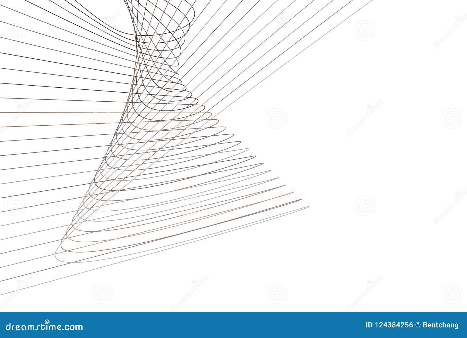 Abstrakte geometrische begrifflichlinie u. Kurvenmuster Effekt, Runde, kreativ u. unordentlich