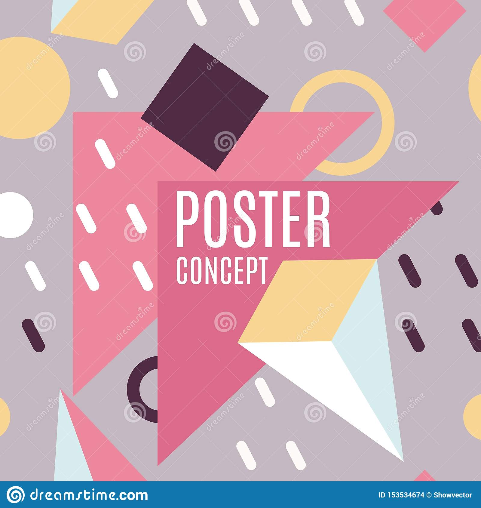 Abstrakte geometrische Formen, bunte Hintergrundlinien Vektor Moderne Geschäftsbroschüre, Fahne, Seite, Broschüre, Flieger