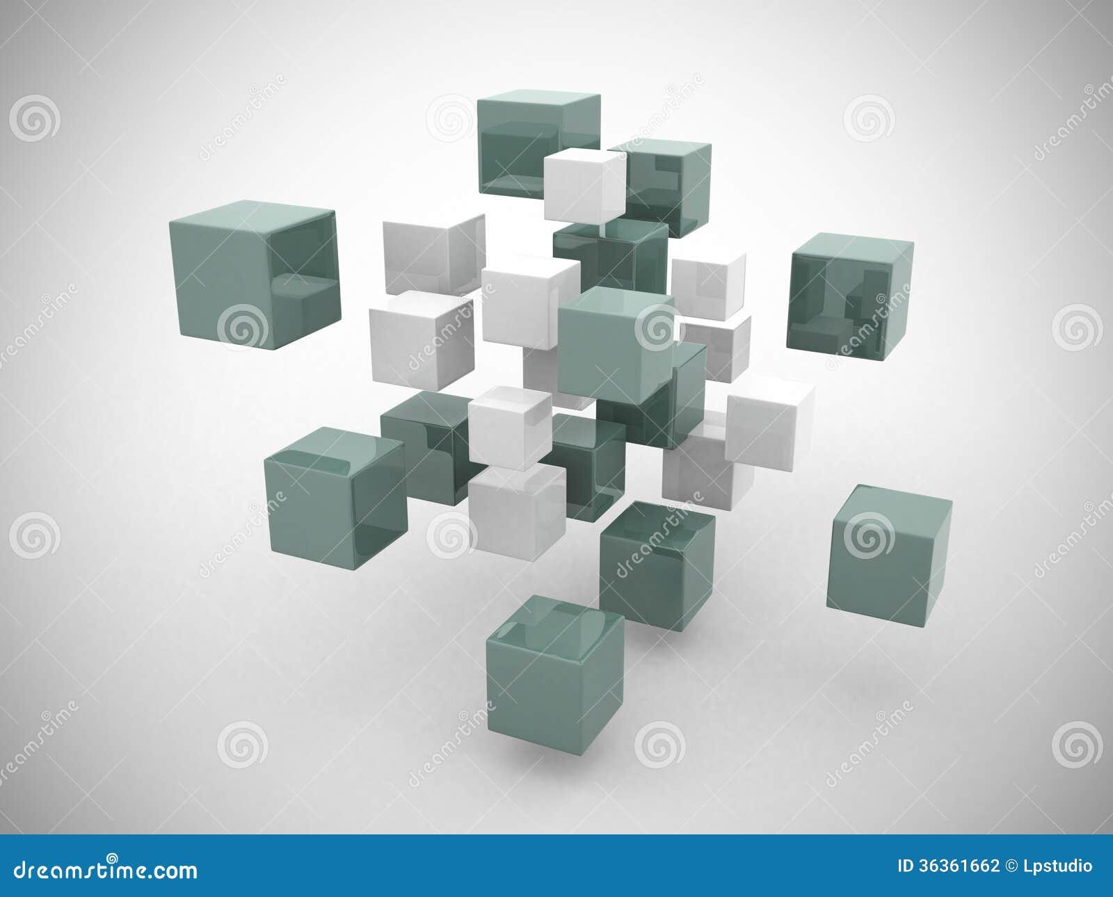 abstrakte geometrische formen 3d von den w rfeln stockfotografie bild 36361662. Black Bedroom Furniture Sets. Home Design Ideas