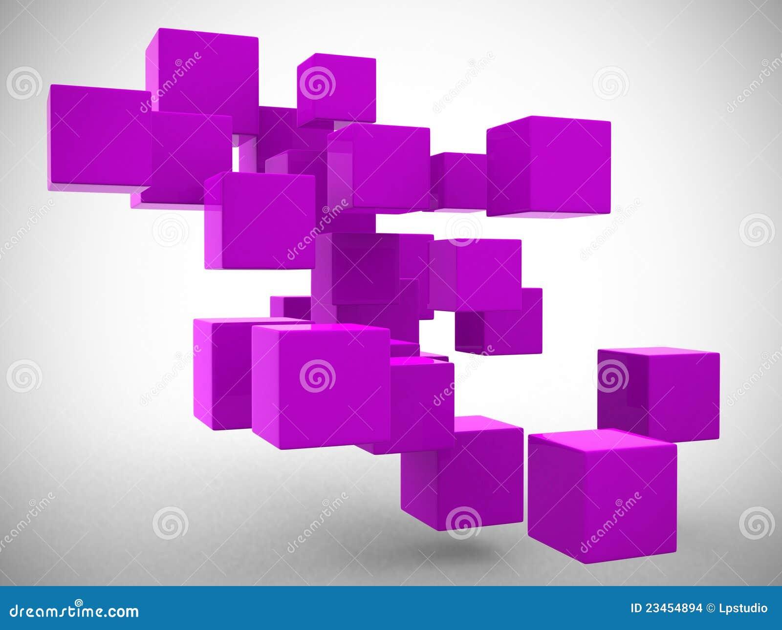 abstrakte geometrische formen von den w rfeln 3d bertragen stockbilder bild 23454894. Black Bedroom Furniture Sets. Home Design Ideas