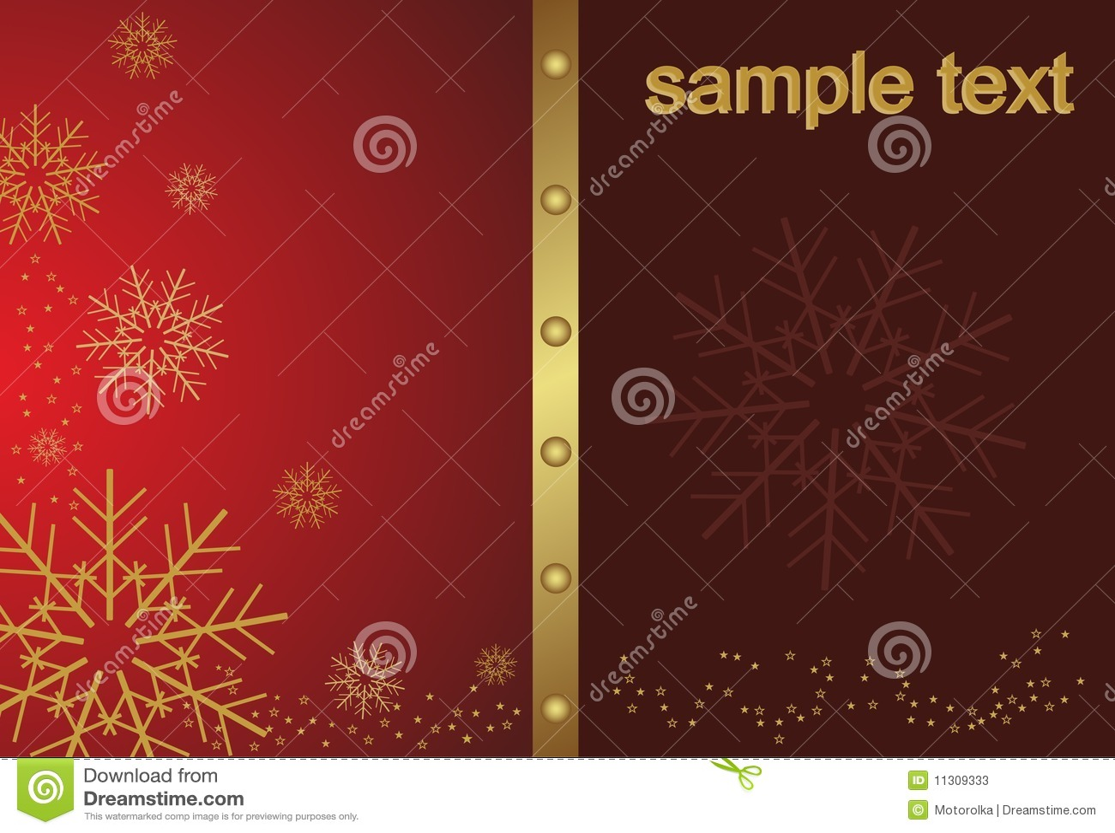 Abstrakte goldene Weihnachtsschneeflocke