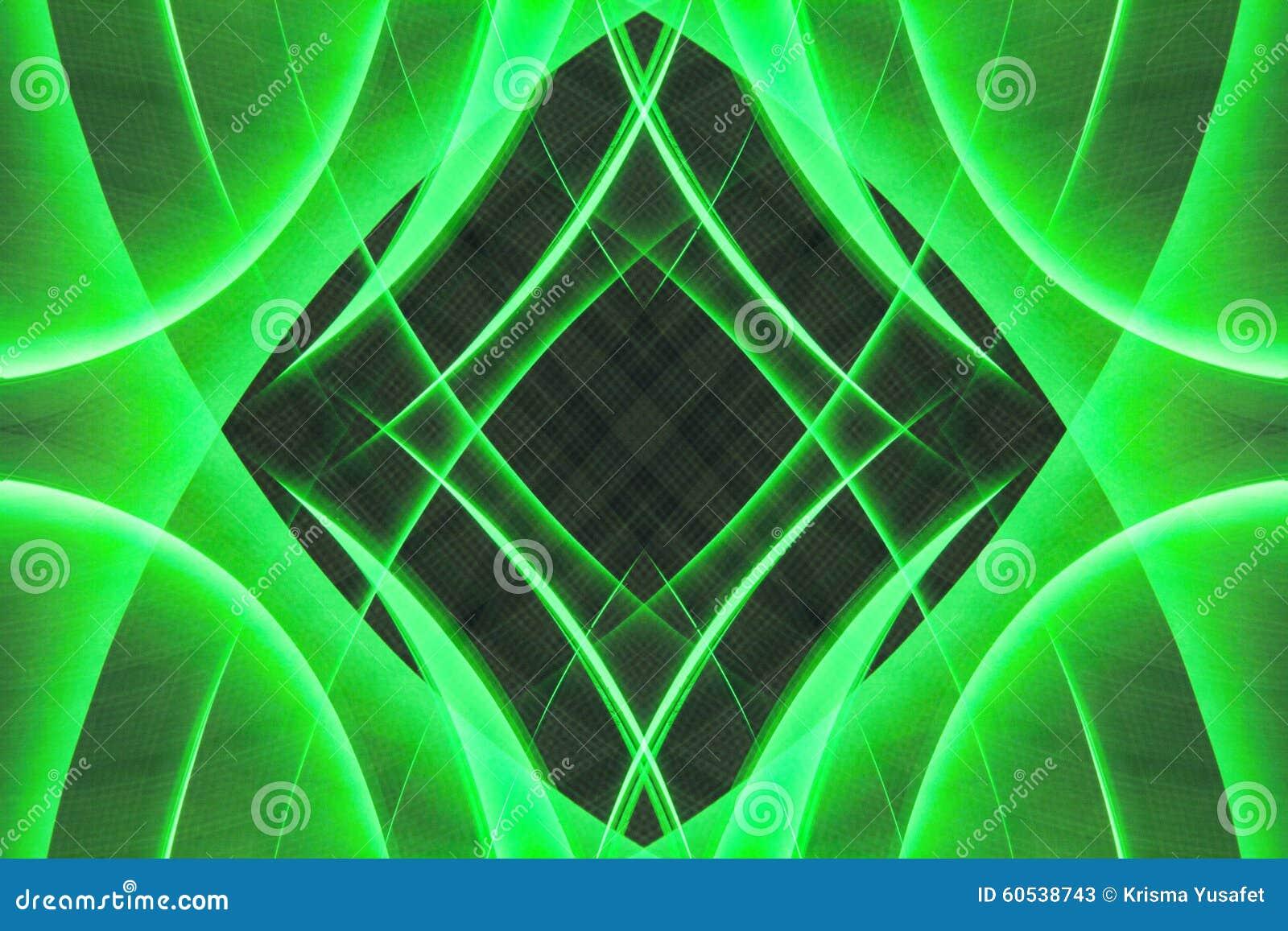 Abstrakte grüne Formen