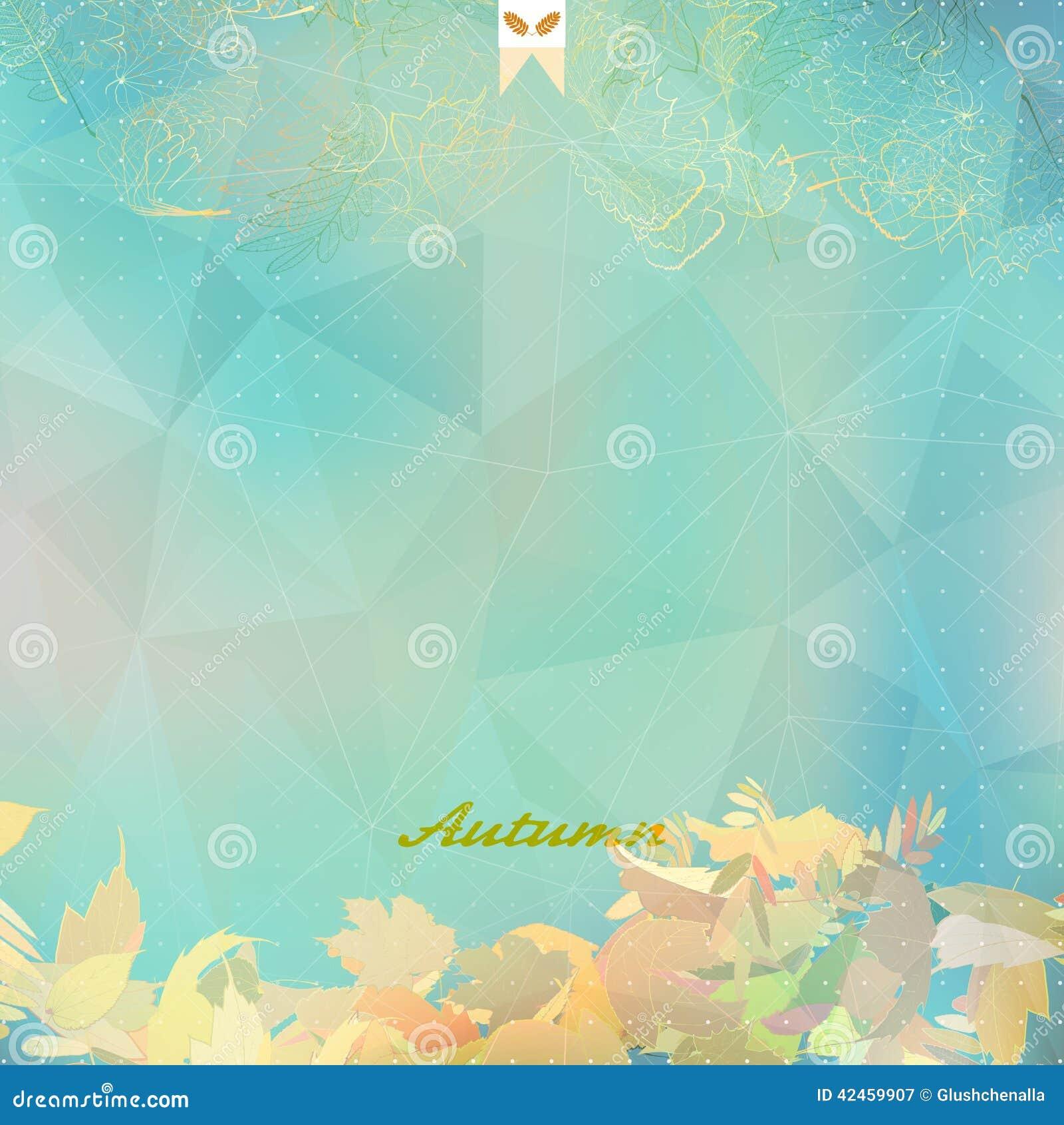 Abstrakte Herbstillustration mit Ahornblättern