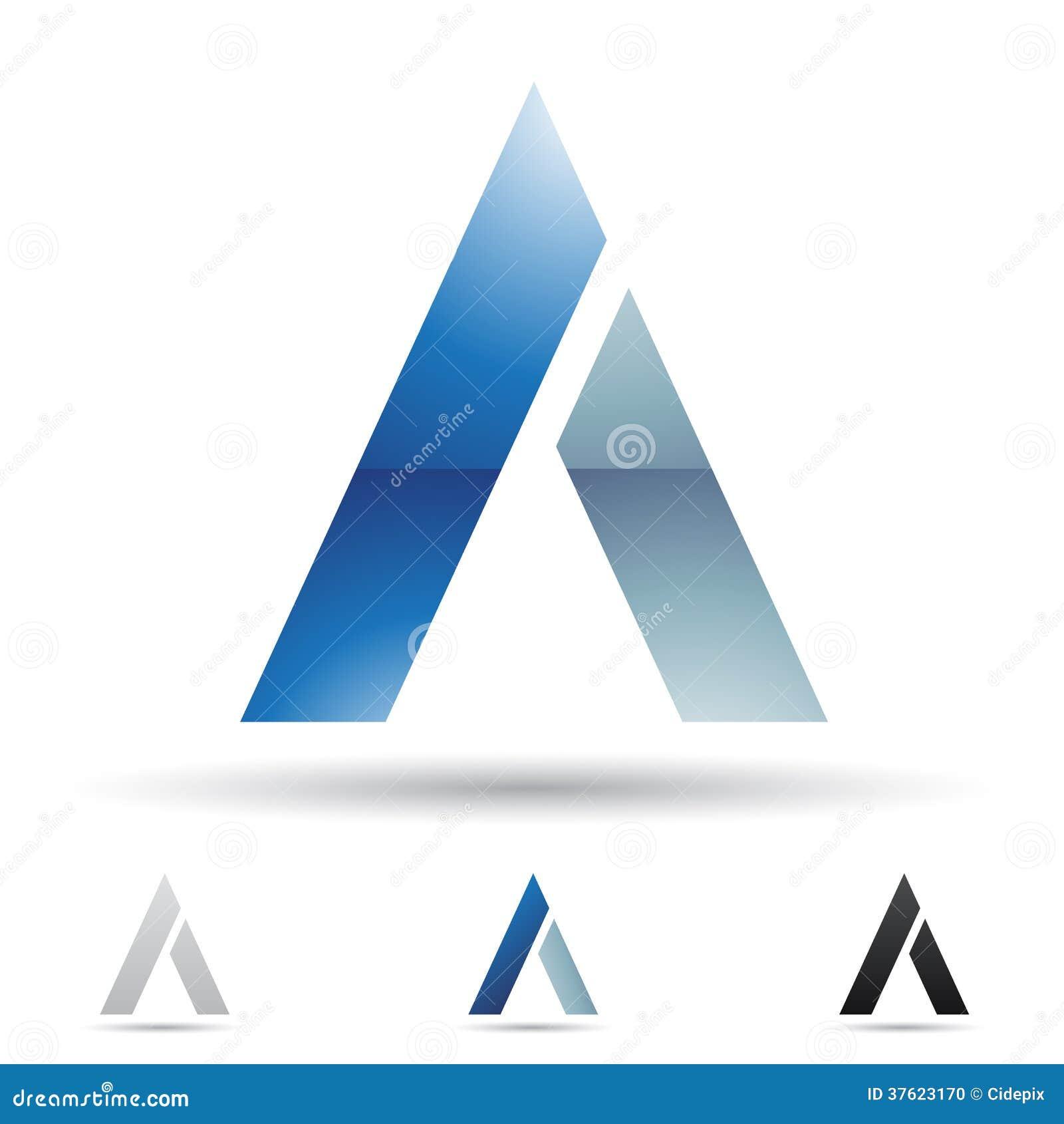 Abstrakte Ikone Für Buchstaben A Vektor Abbildung - Illustration von ...