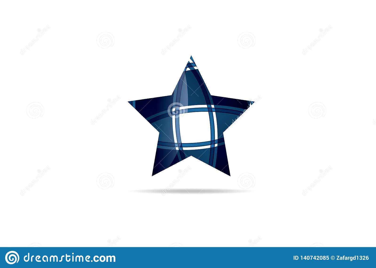 Abstrakte Ikone Logo des blauen Sternes, Logo Template Logotype