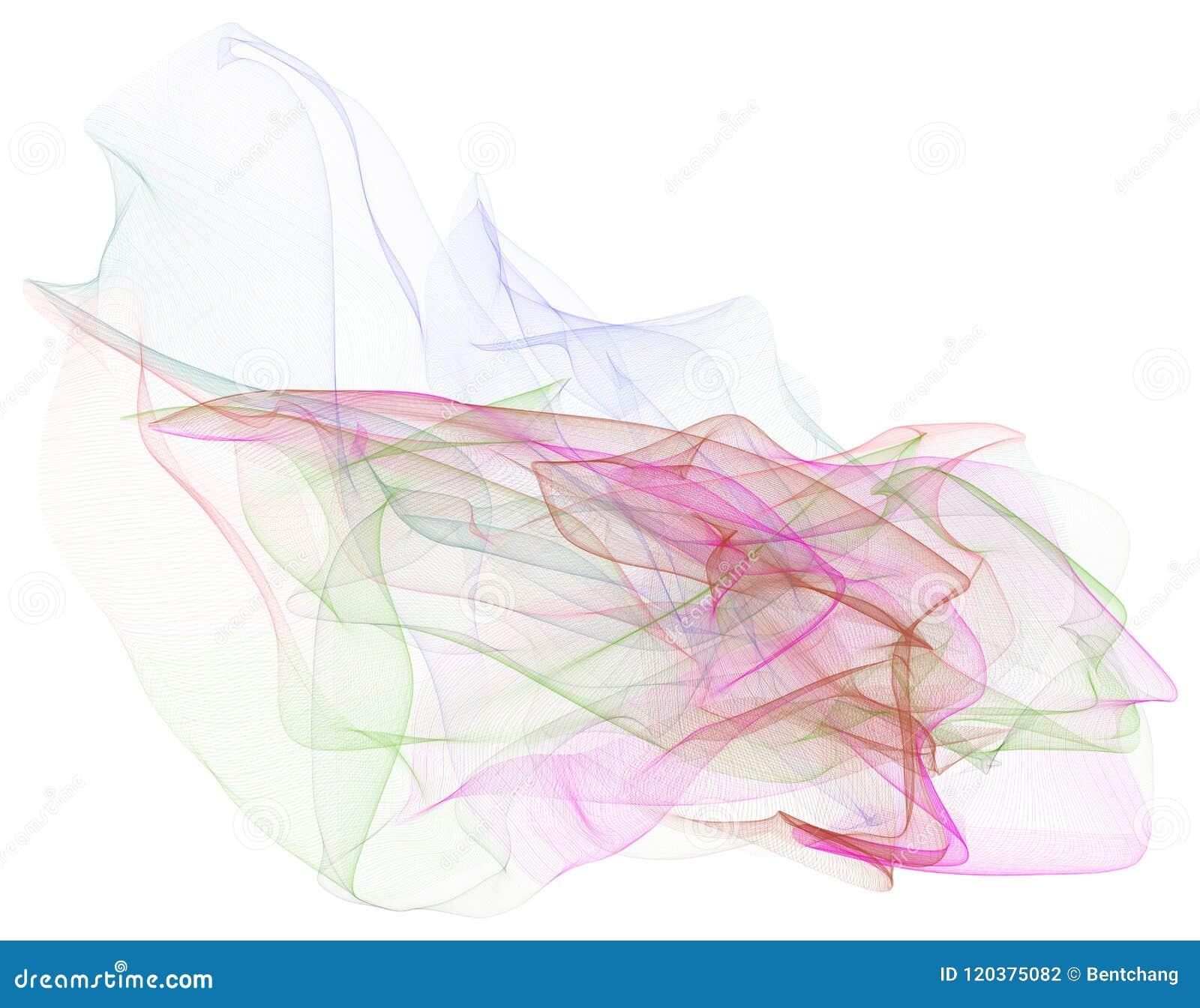 Abstrakte Illustrationen der rauchigen Linie Kunst, begrifflich Muster, kreativ, Design u. Grafik