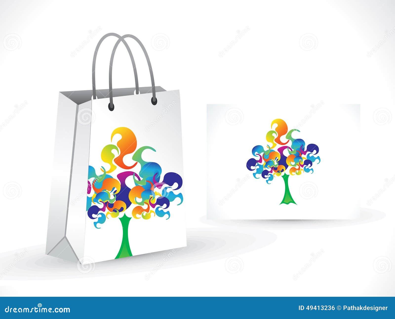Download Abstrakte Künstlerische Bunte Baumeinkaufstasche Vektor Abbildung - Illustration von einzelverkauf, nachricht: 49413236